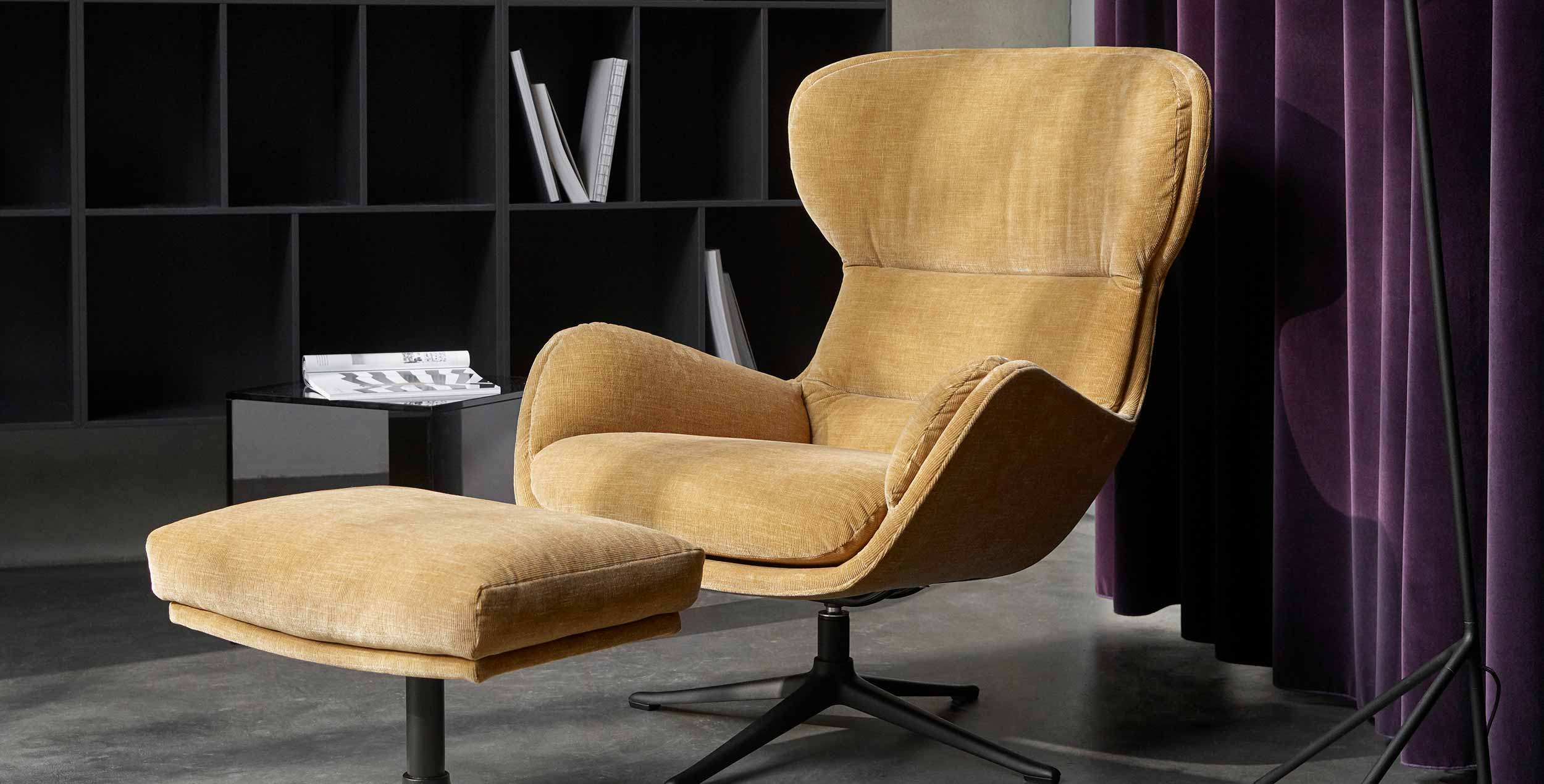 Lux gold Reno recliner chair