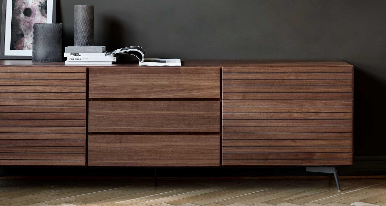 Designer walnut sideboard