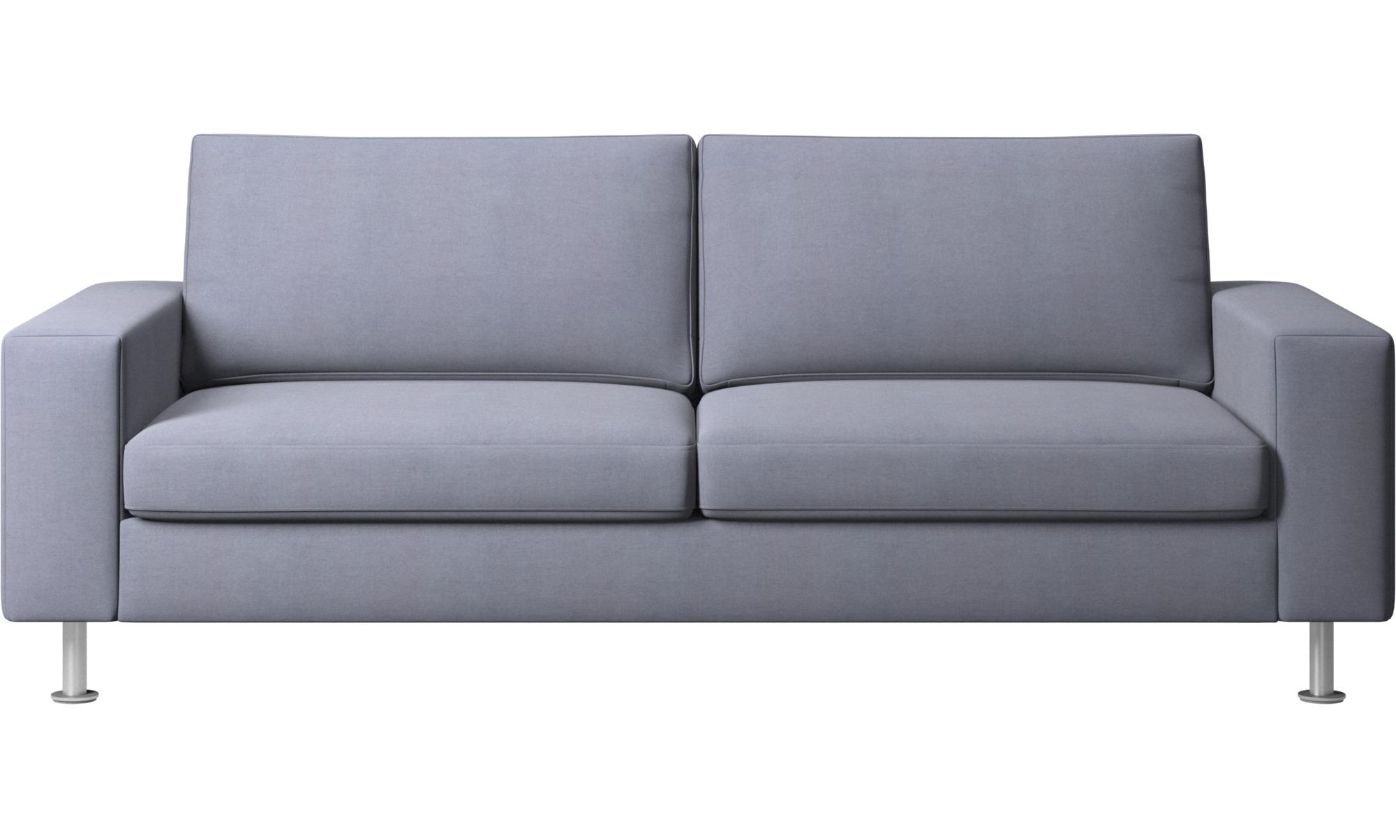 Sofy rozkładane - Sofa Indivi z funkcją spania - Niebieski - Tkanina