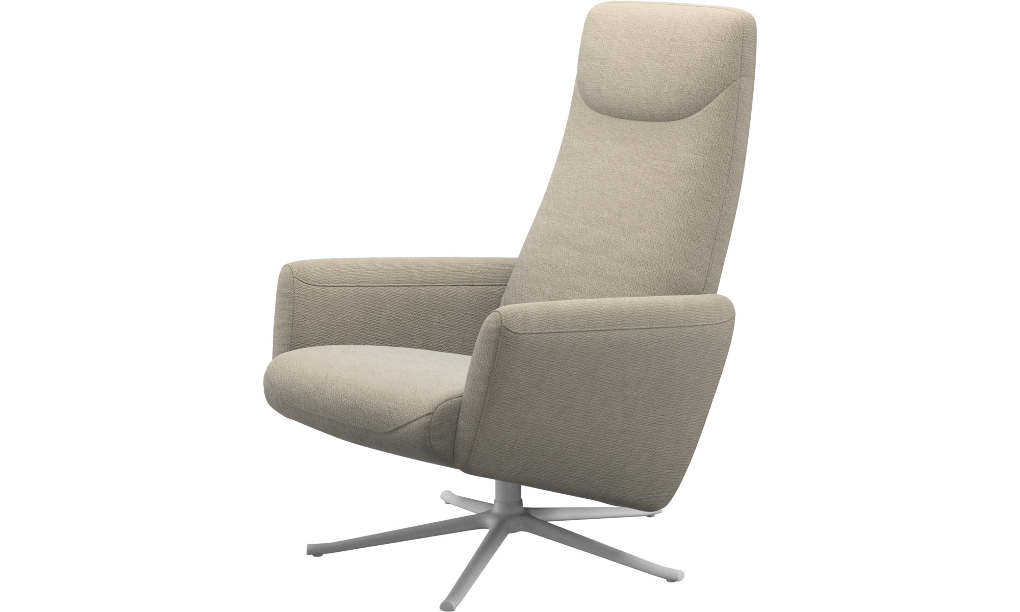 Recliners - Lucca recliner with swivel function - Beige - Fabric