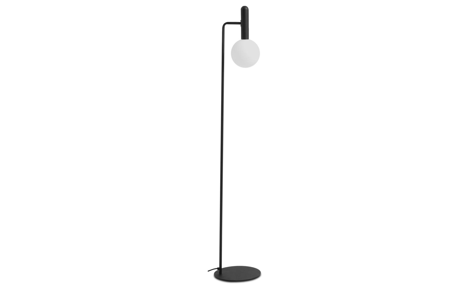 Lampy - Lampa podłogowa Orb - Czarny - Metal