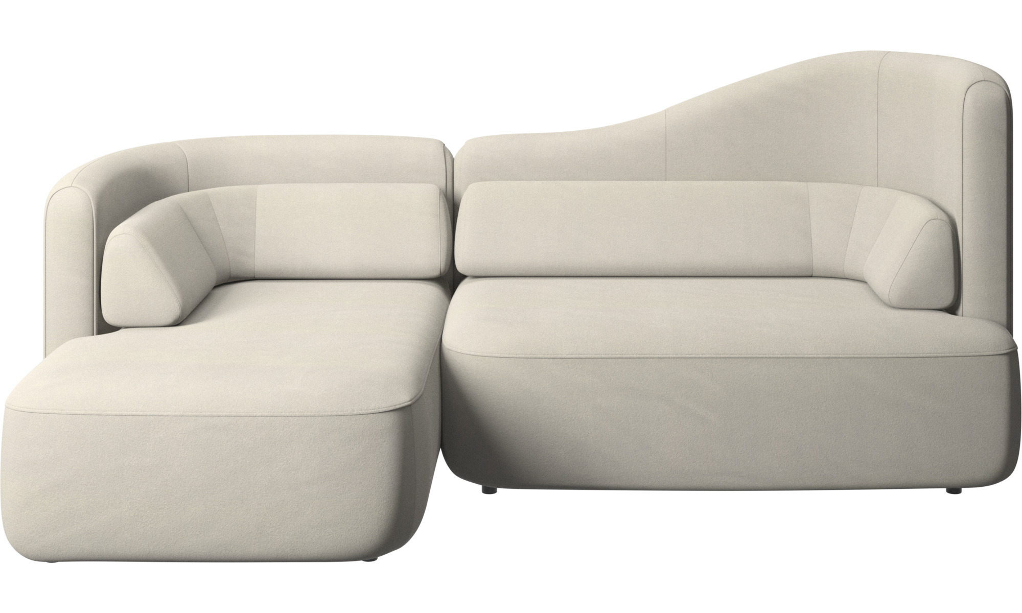 Canapés modulaires - Canapé Ottawa - Blanc - Tissu