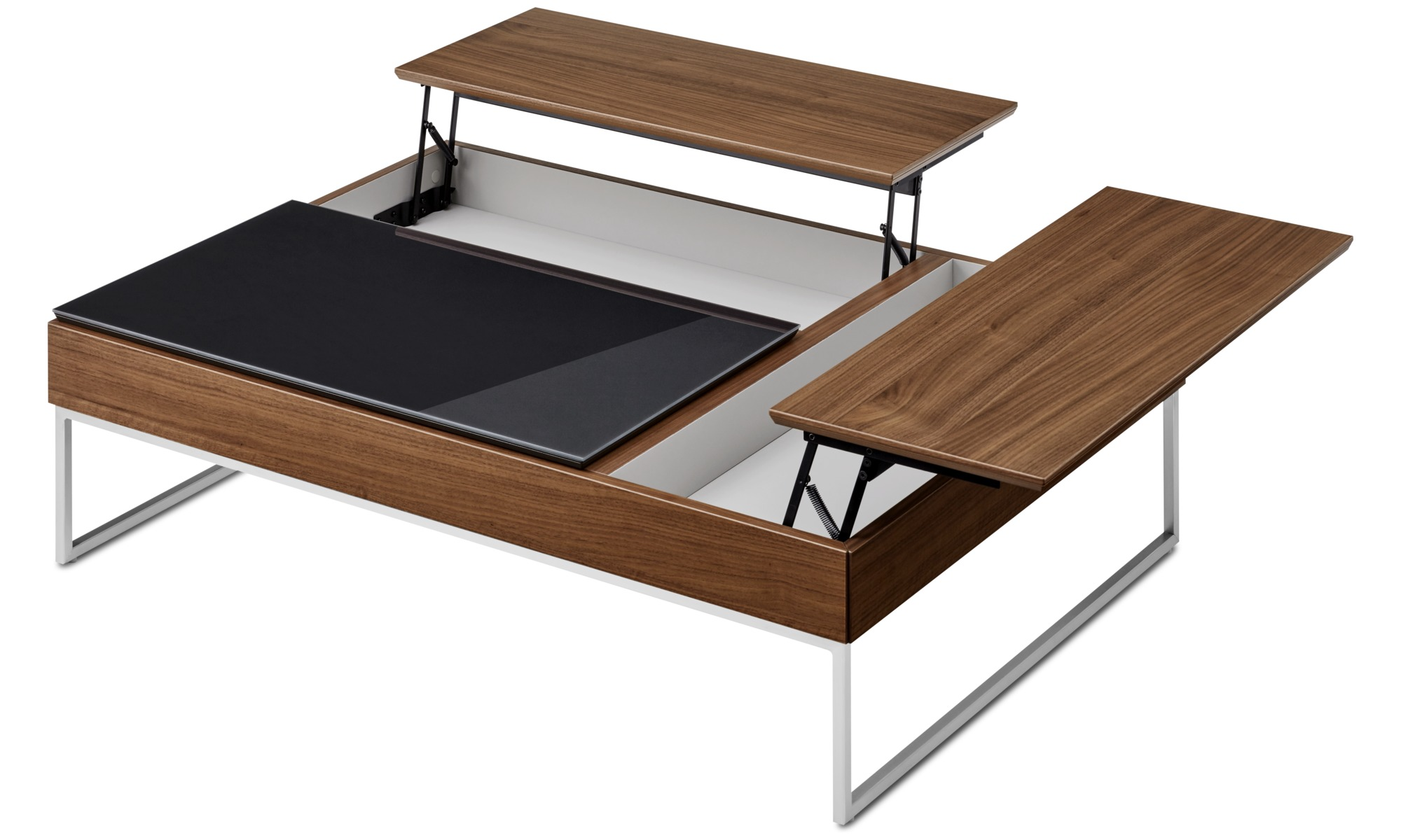 ... Coffee tables - Chiva functional coffee table with storage - square -  Brown - Walnut