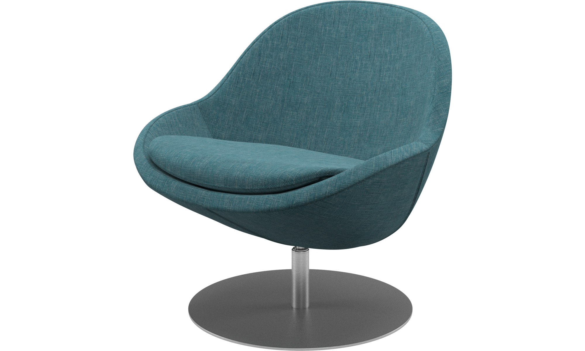 Armchairs - Veneto chair with swivel function - Blue - Fabric
