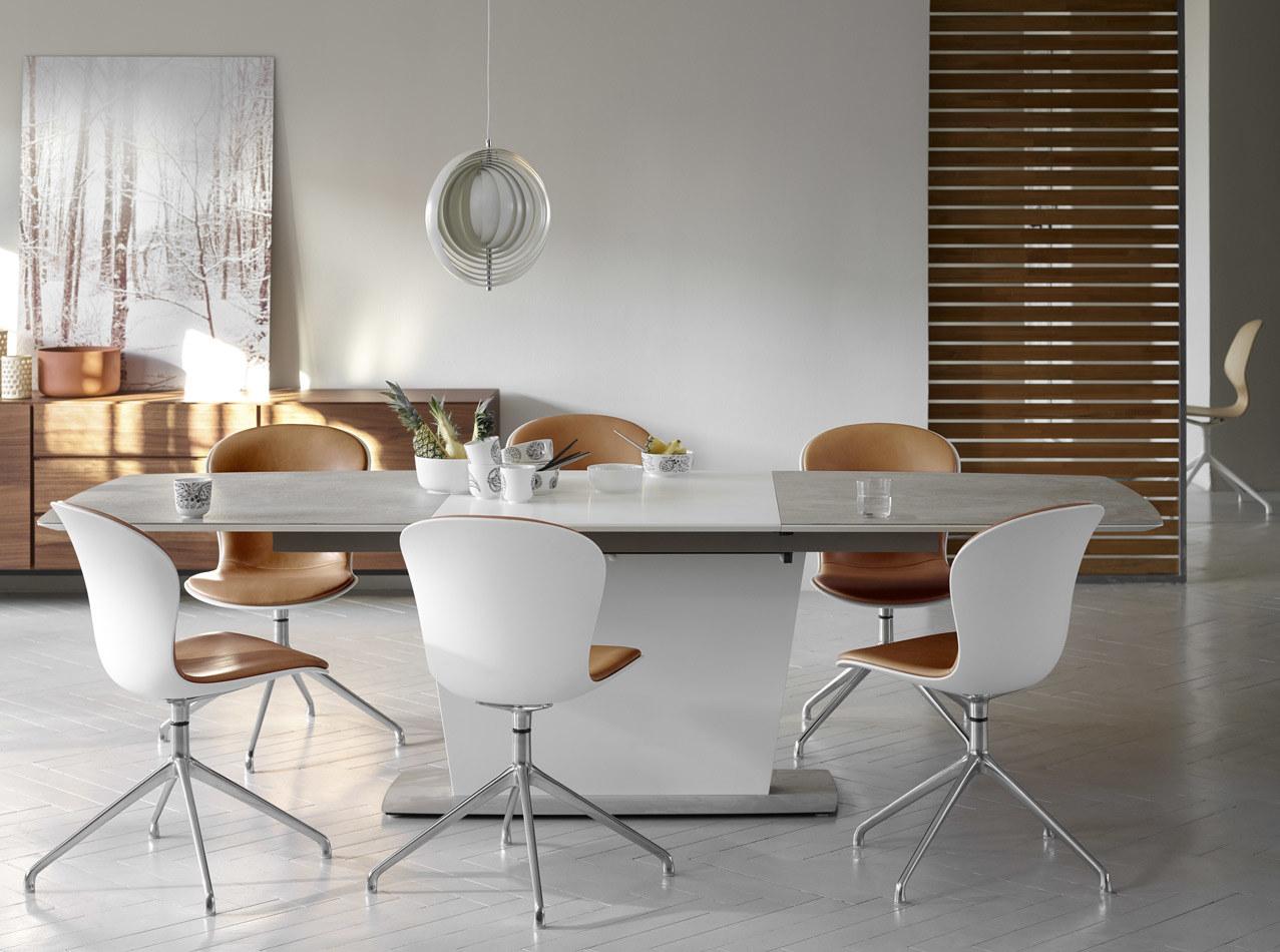 Mesas de comedor - Mesa extensible con tablero suplementario Milano