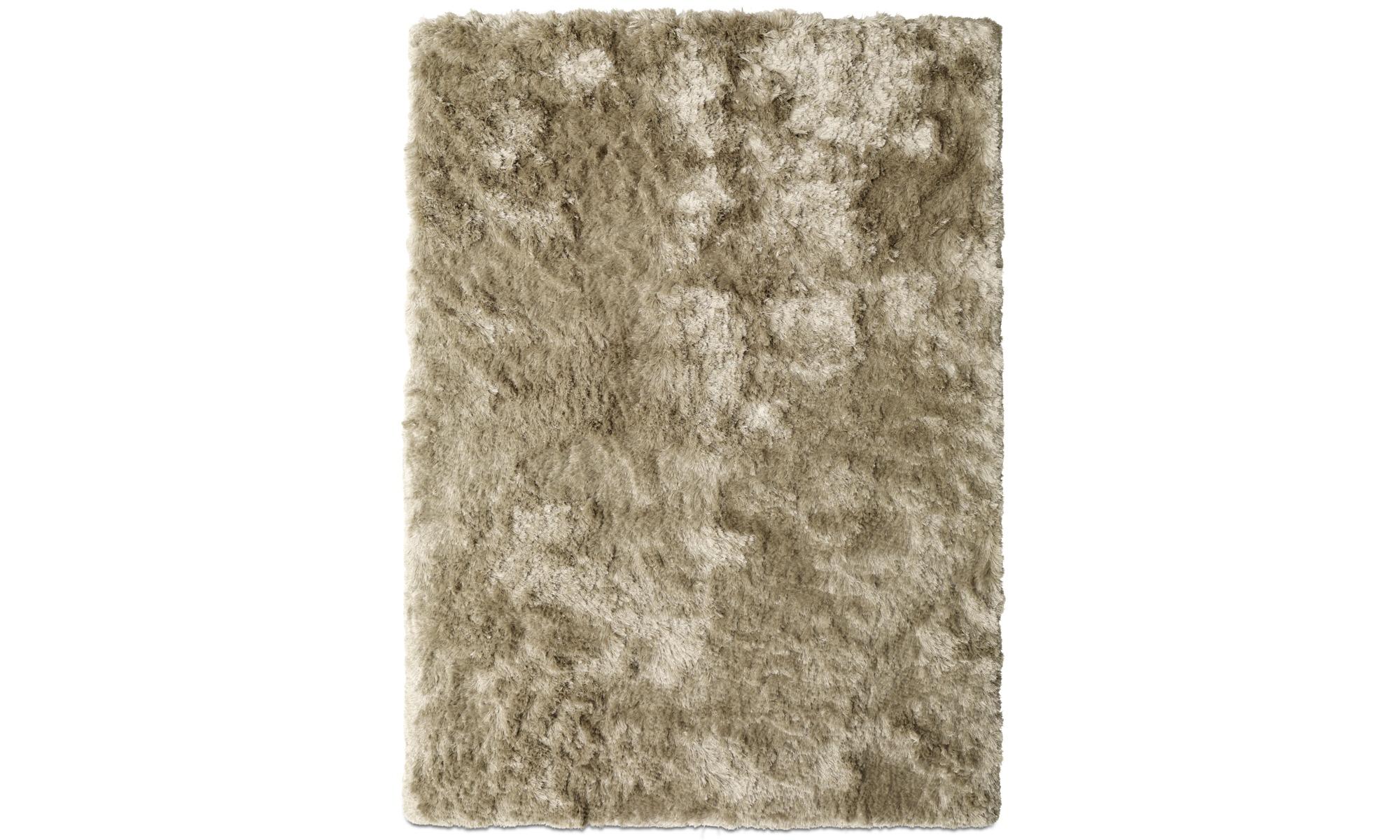 Round rugs - Neat rug - rectangular - Beige - Fabric