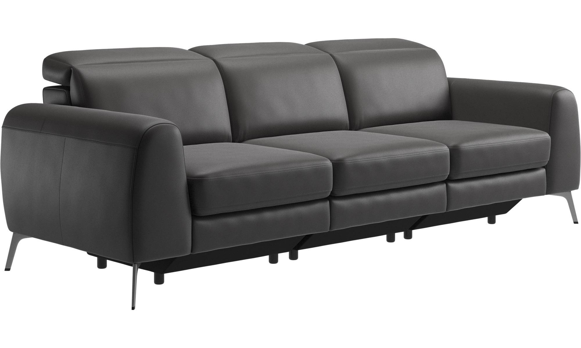 Bezaubernd Sofa Kopfstütze Foto Von 3-sitzer Sofas - Madison Mit Verstellbarer Kopfstütze