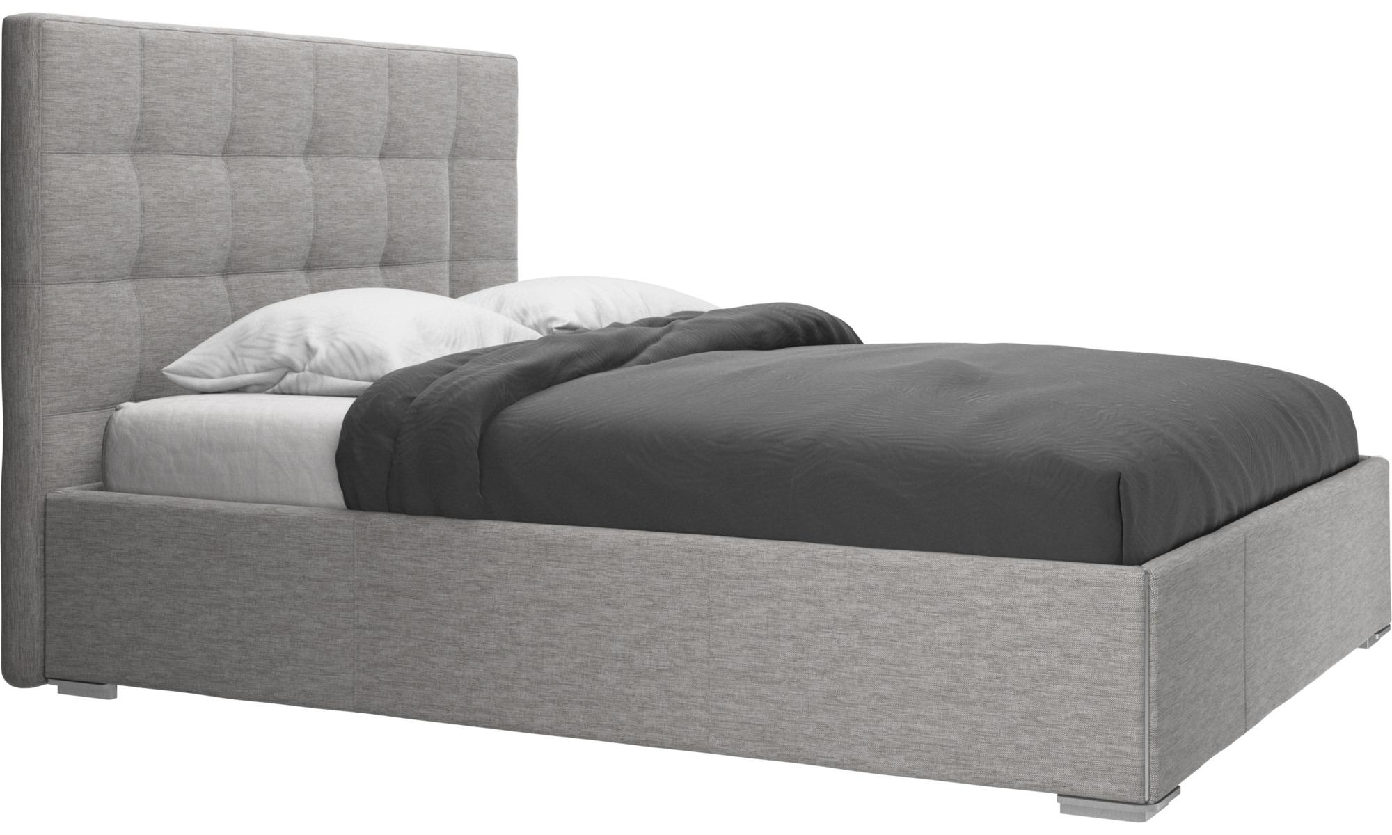 Camas - Cama Mezzo, no incluye colchón - En gris - Tela