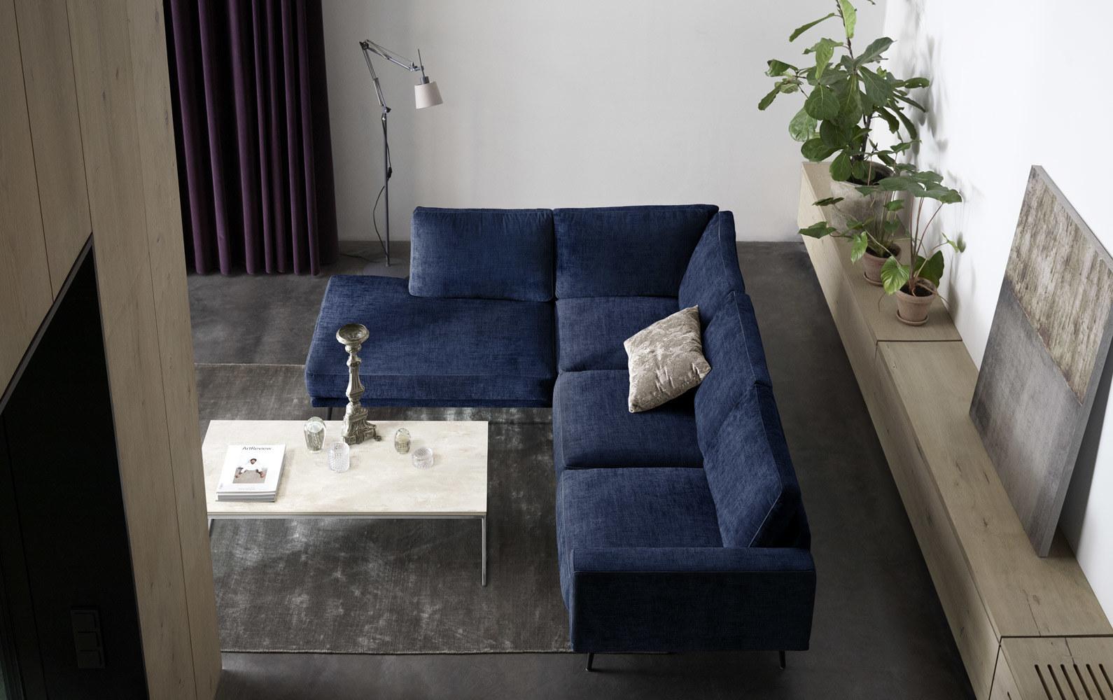 Corner sofas - Carlton corner sofa with resting unit