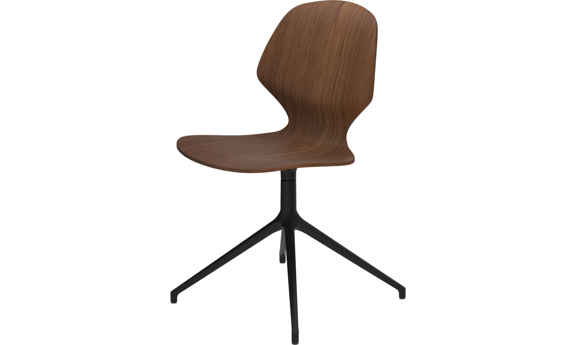 Cadeiras de jantar - Cadeira Florence giratória - Marrom - Nogueira