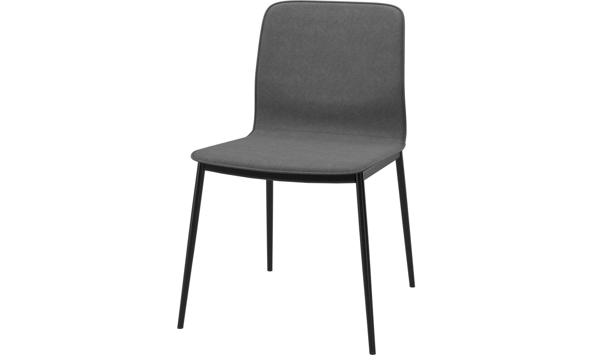 Cadeiras de jantar - Cadeira Newport - Cinza - Tecido