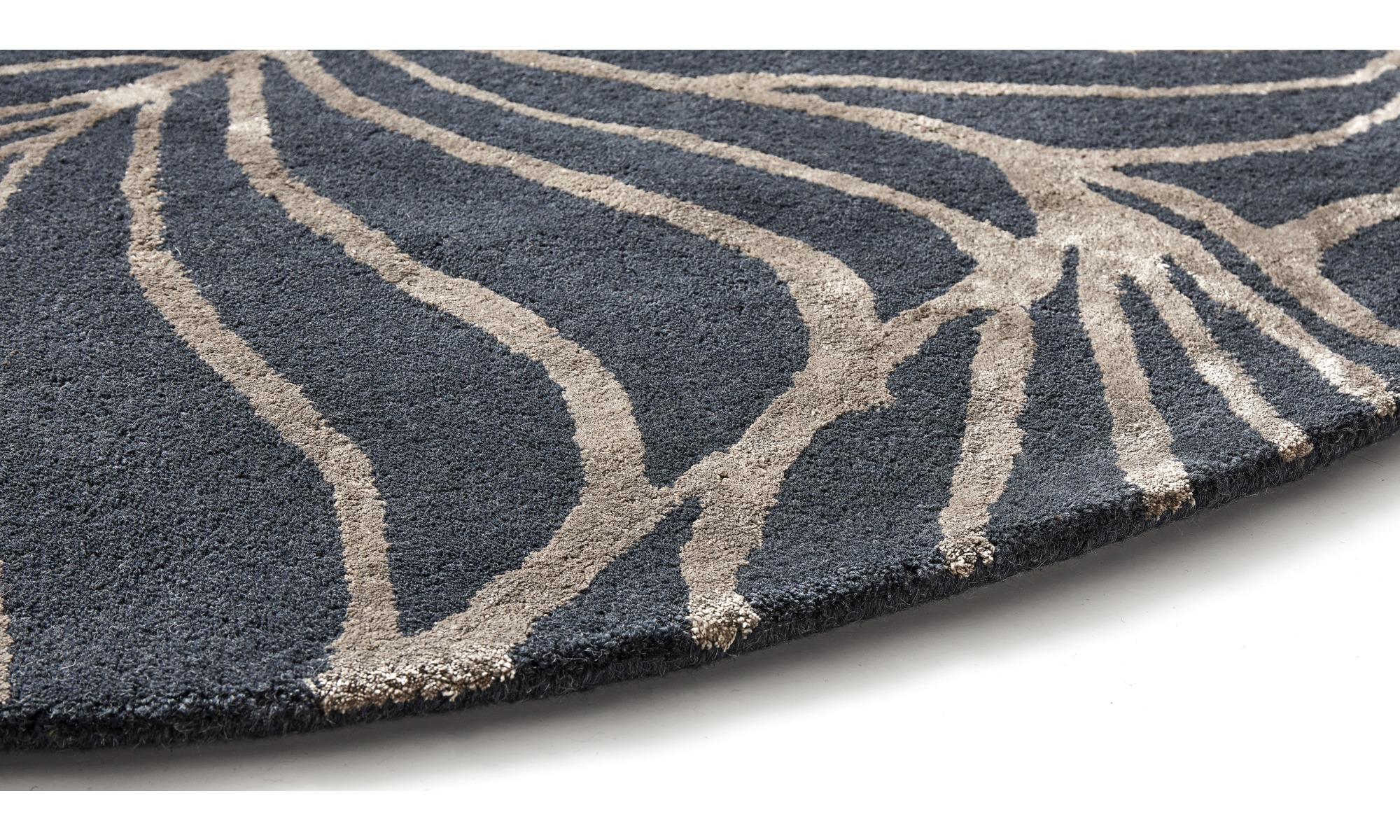 ... Runde Teppiche   Ankara Teppich   Rund   Blau   Stoff ...
