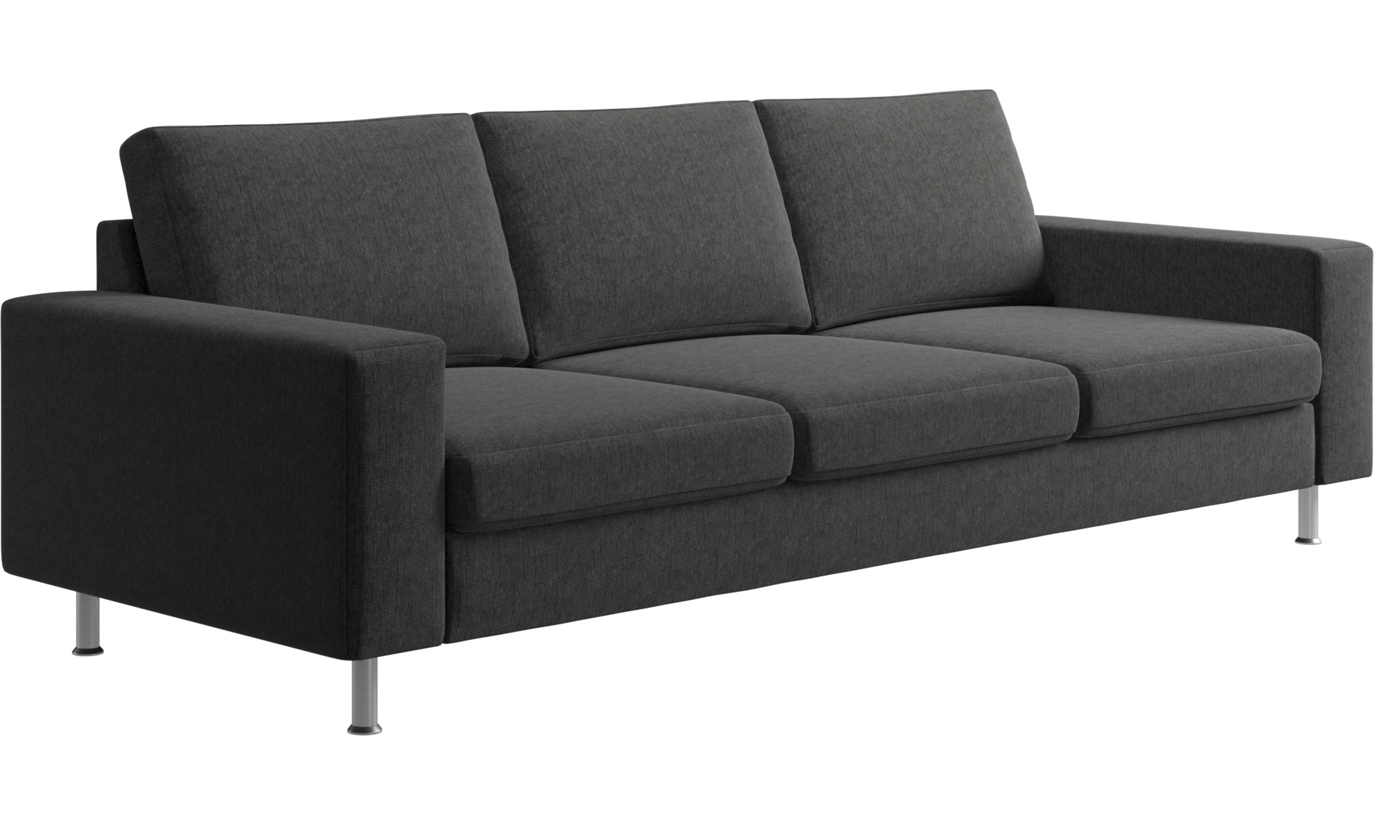 Black Three Person Couch: 3 Seater Sofas