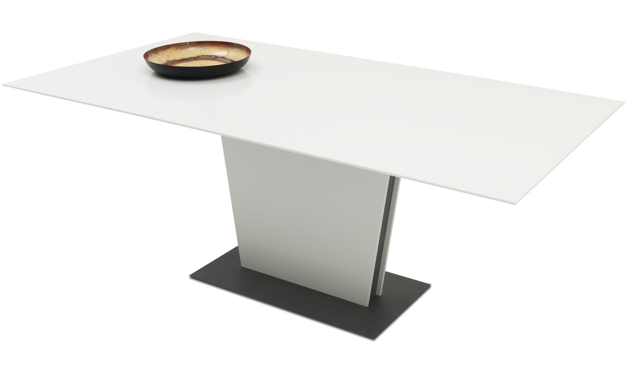 Eetkamertafel Vierkant Wit : Eetkamertafel milano tafel met extra tafelblad boconcept