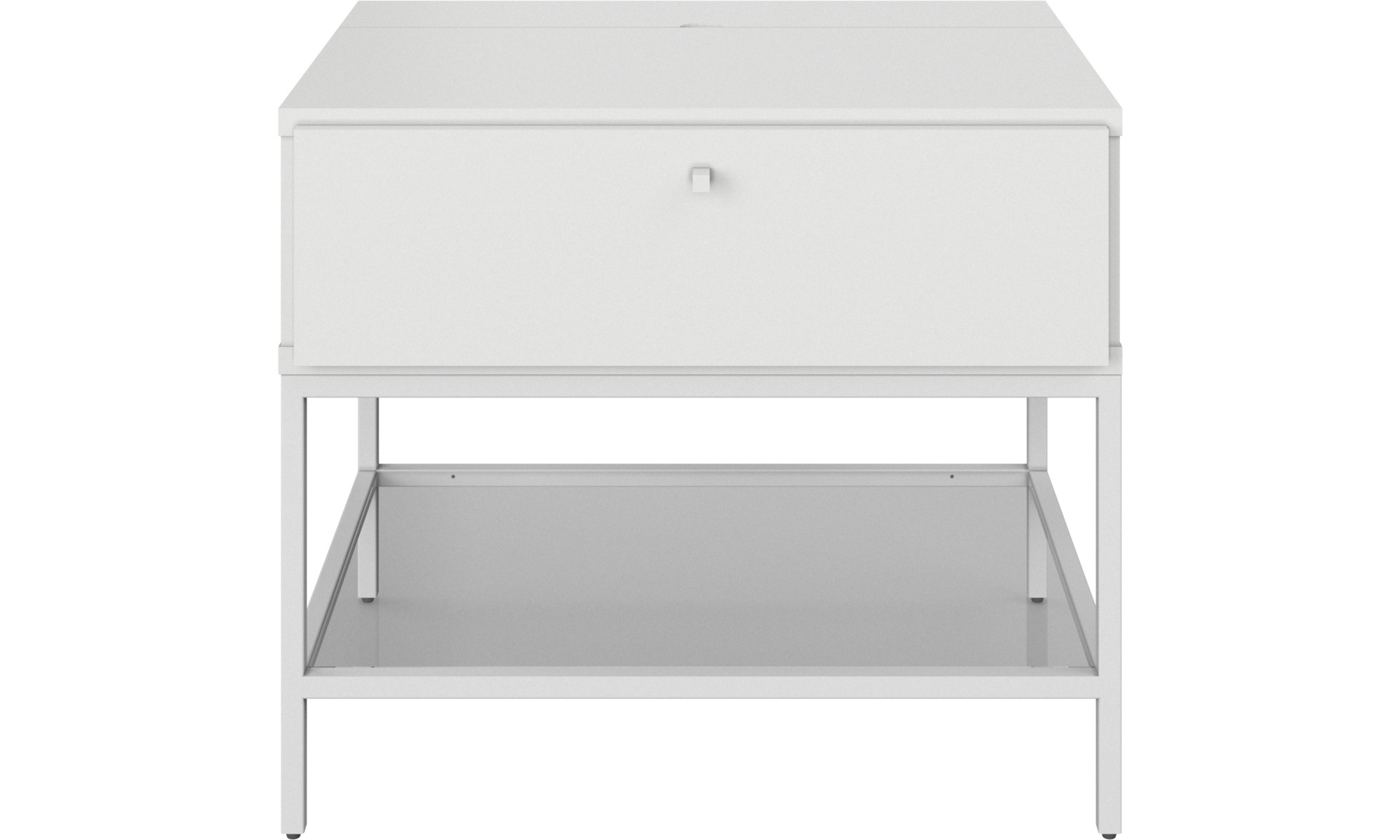 Night stands - Bordeaux night stand - rectangular - White - Lacquered