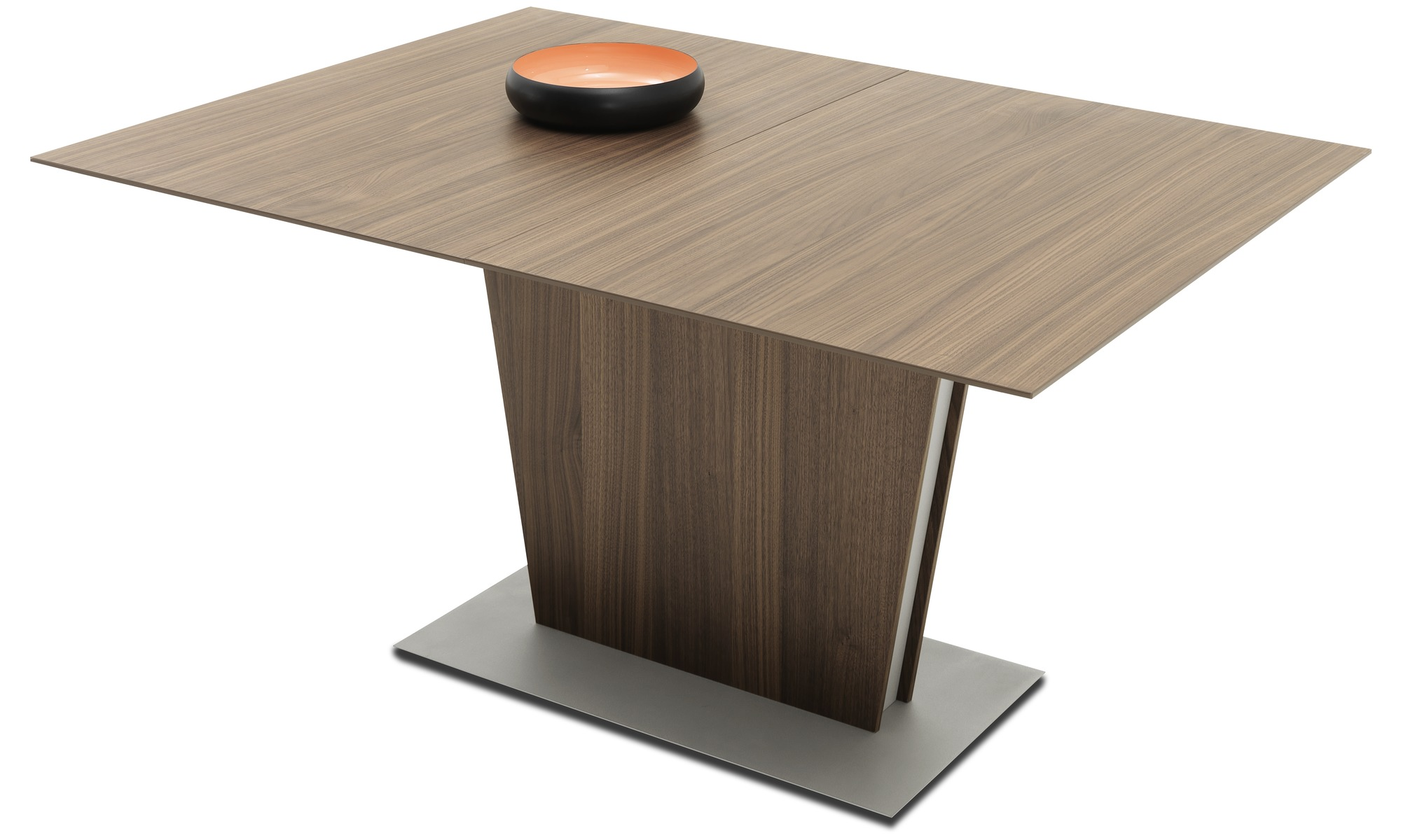 ... Dining tables - Milano table with supplementary tabletop - square -  Brown - Walnut ...