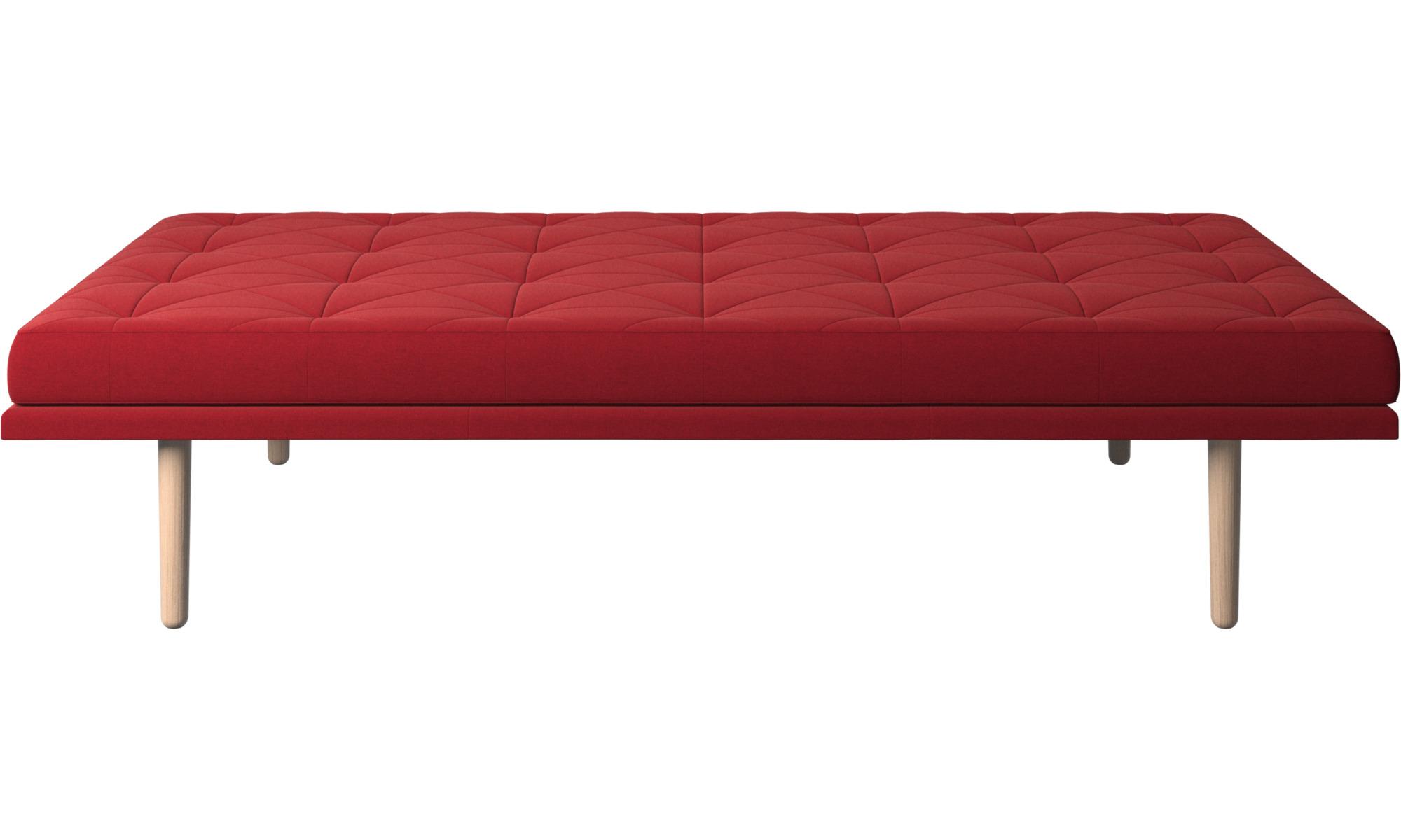 Divanes - Sofá-cama fusion - Rojo - Tela