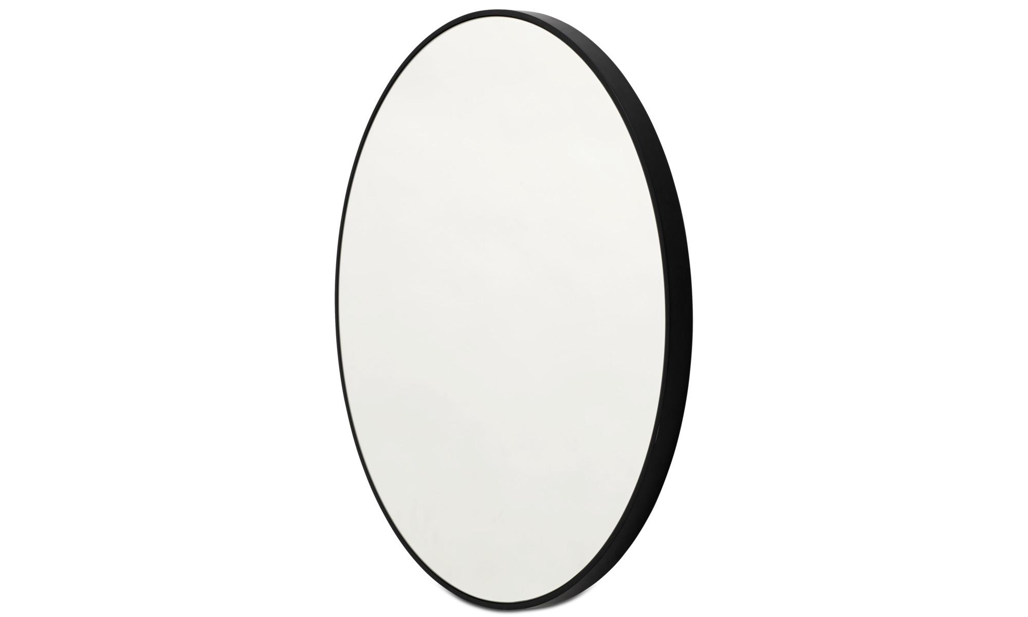 Speglar - Ring spegel - Svart - Glas