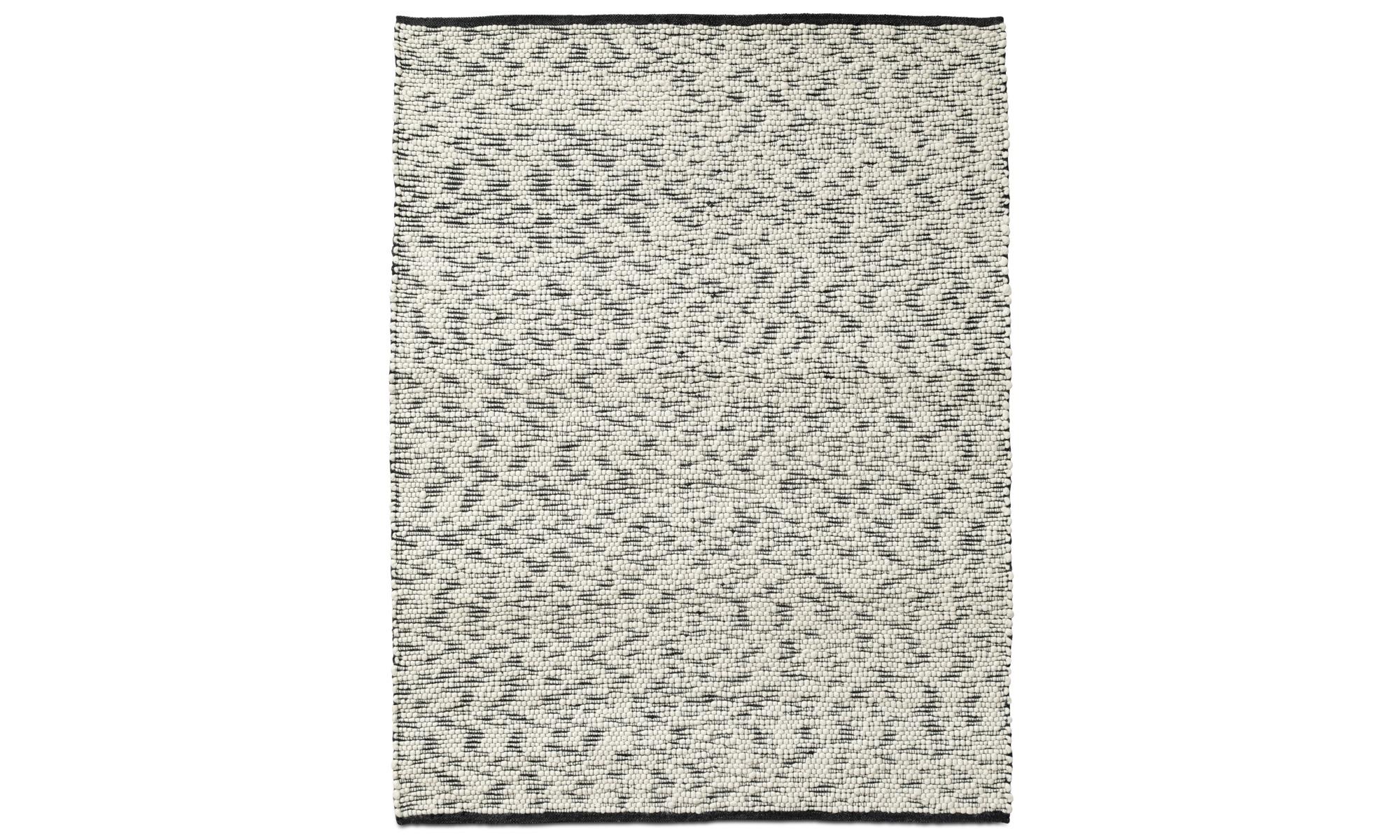Teppiche - Mensaxe Teppich - rechteckig - Schwarz - Stoff