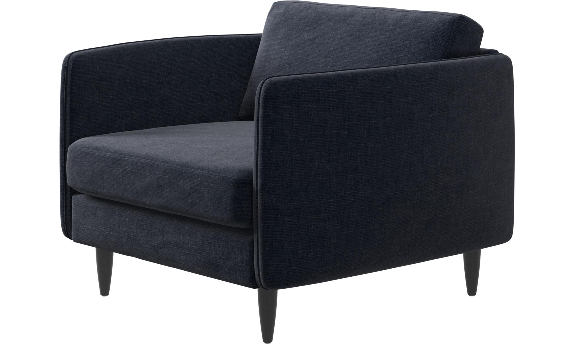 dunkelblauer napoli stoff osaka sessel klassische. Black Bedroom Furniture Sets. Home Design Ideas