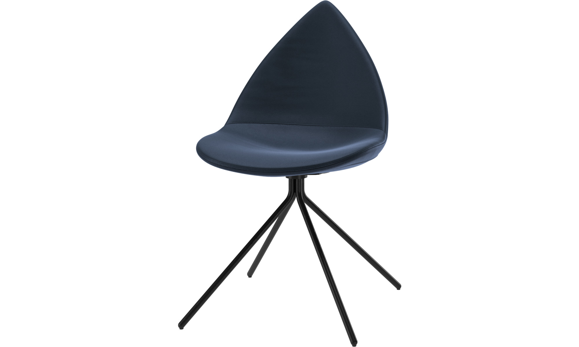 Dining chairs - Ottawa chair - Blue - Leather