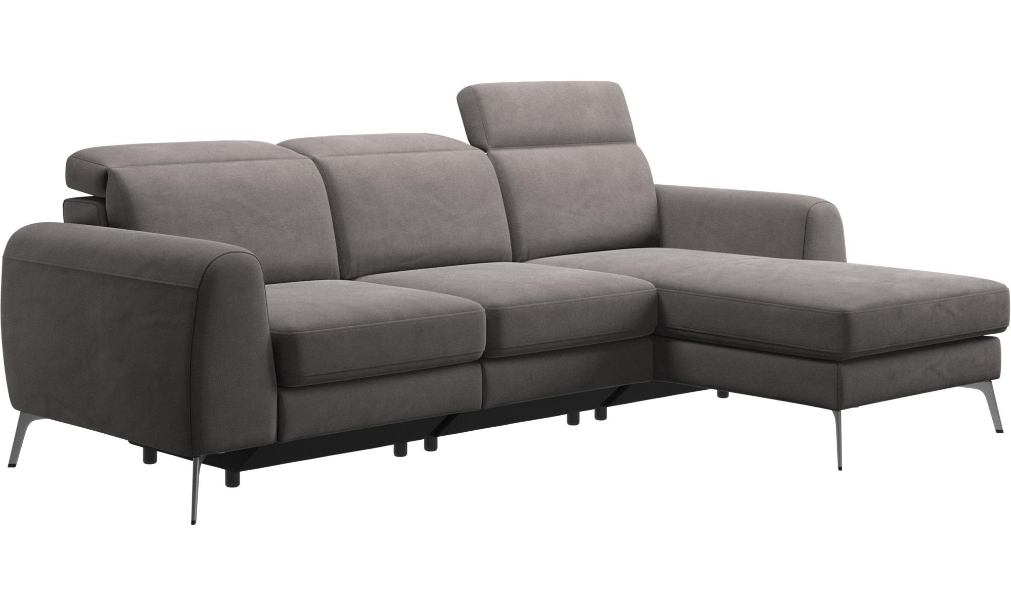 Geräumig Sofa Kopfstütze Referenz Von 3-sitzer Sofas - Madison Mit Ruhemodul Und