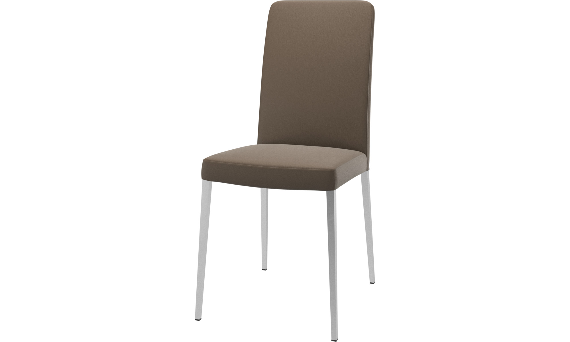 Dining chairs - Nico chair - Grey - Leather