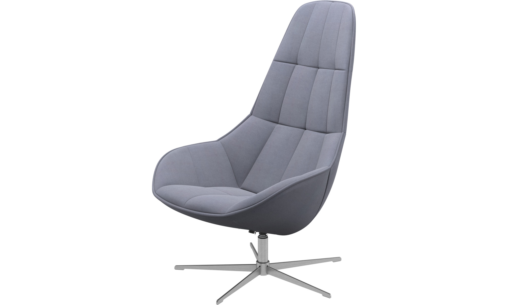 Armchairs - Boston chair with swivel function. Also available with tilt function - Blue - Fabric