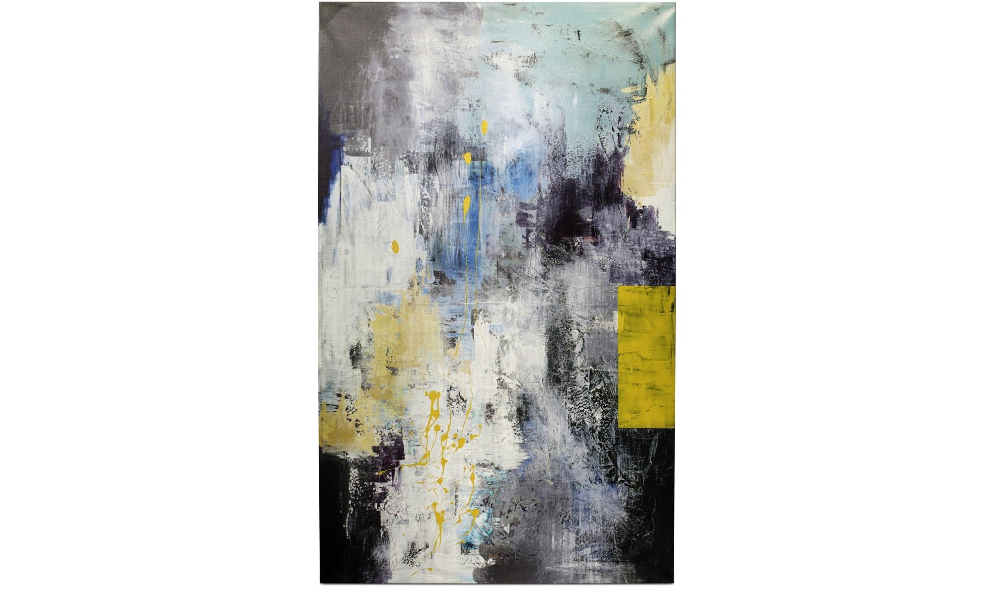 Tavlor - Abstract composition orginalmålning - Svart - Trä