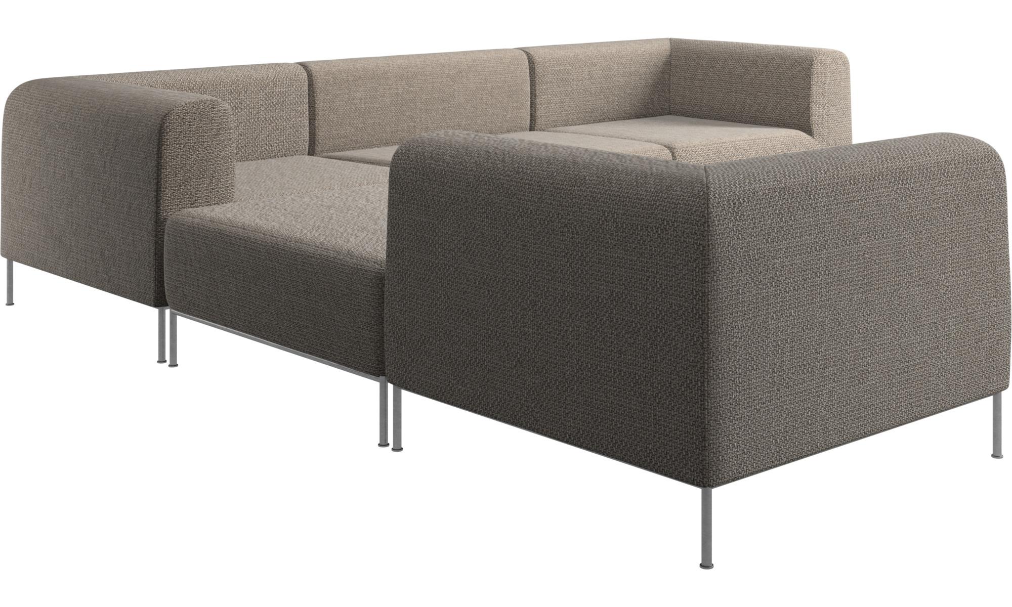 Sof s modulares sof miami de esquina con pouf en el lado izquierdo boconcept - Sofas de esquina ...