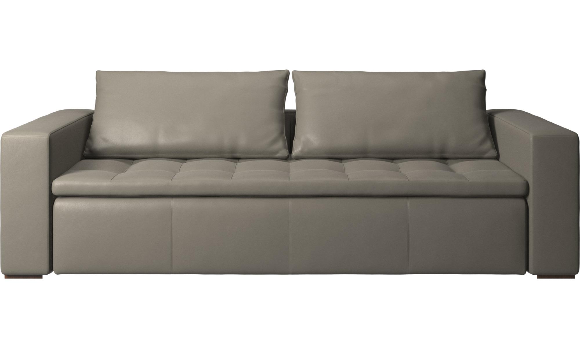 3 personers sofaer - Mezzo sofa - Grå - Læder