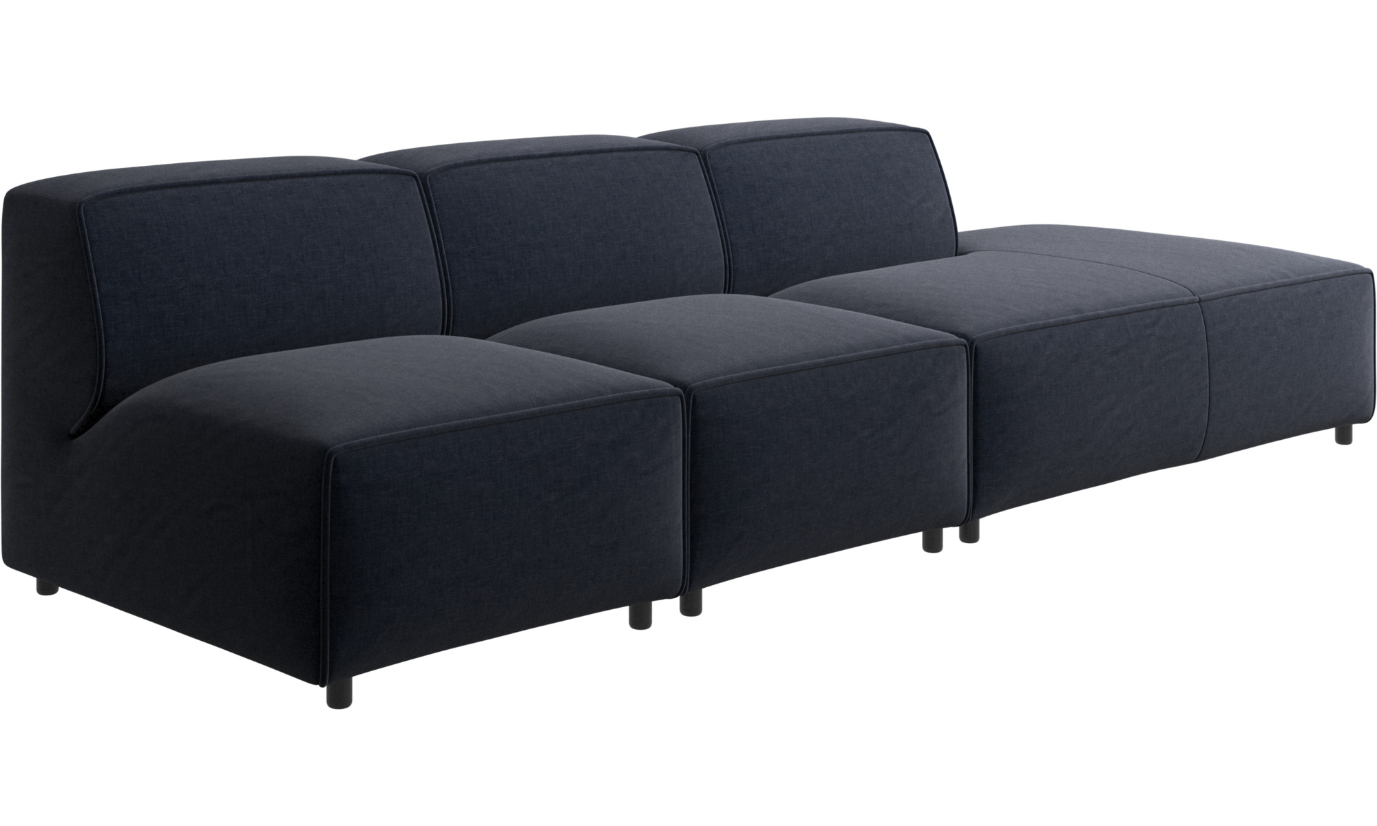 navy blue napoli carmo sofa with lounging unit boconcept. Black Bedroom Furniture Sets. Home Design Ideas