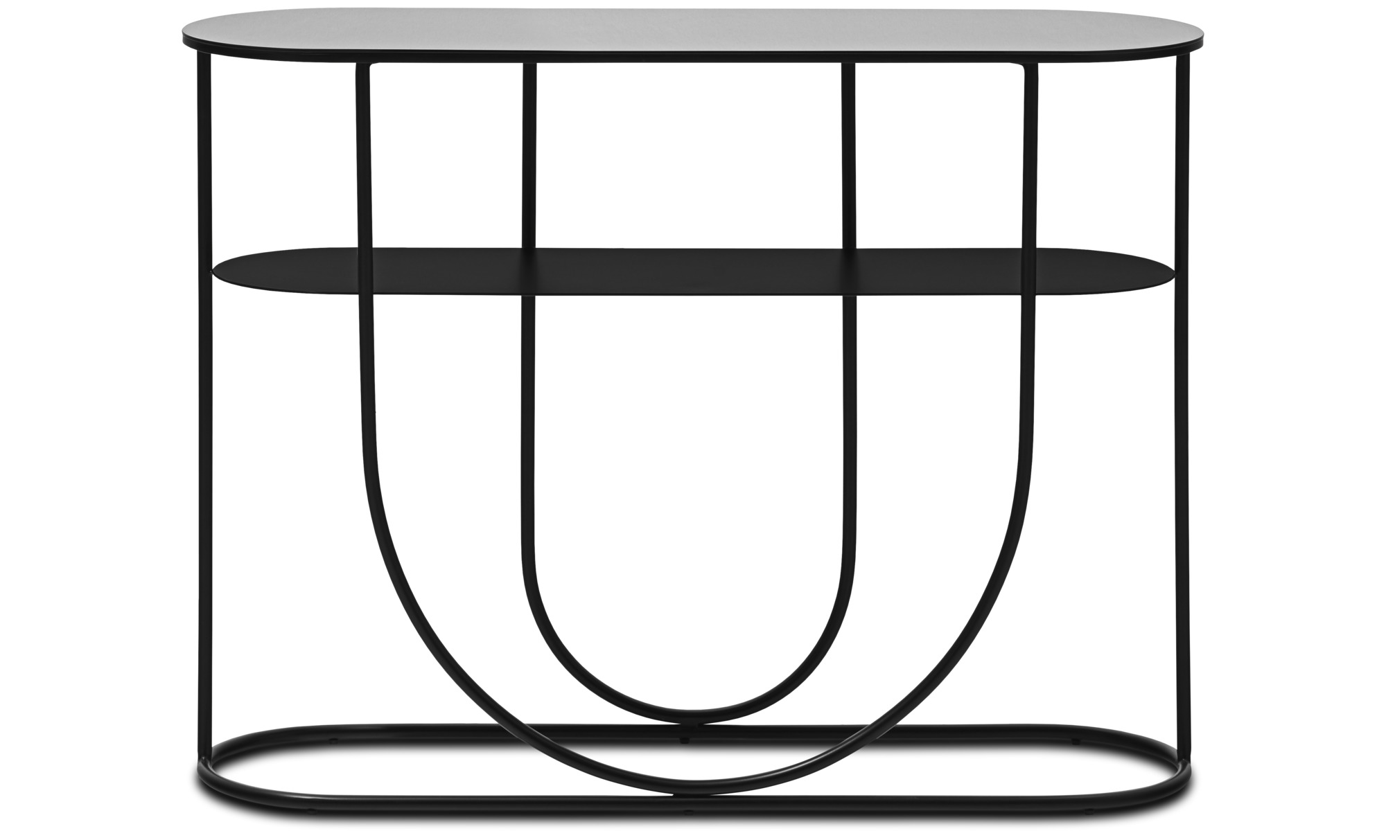 Hallmöbler - Aisle konsolbord - oval - Svart - Metall