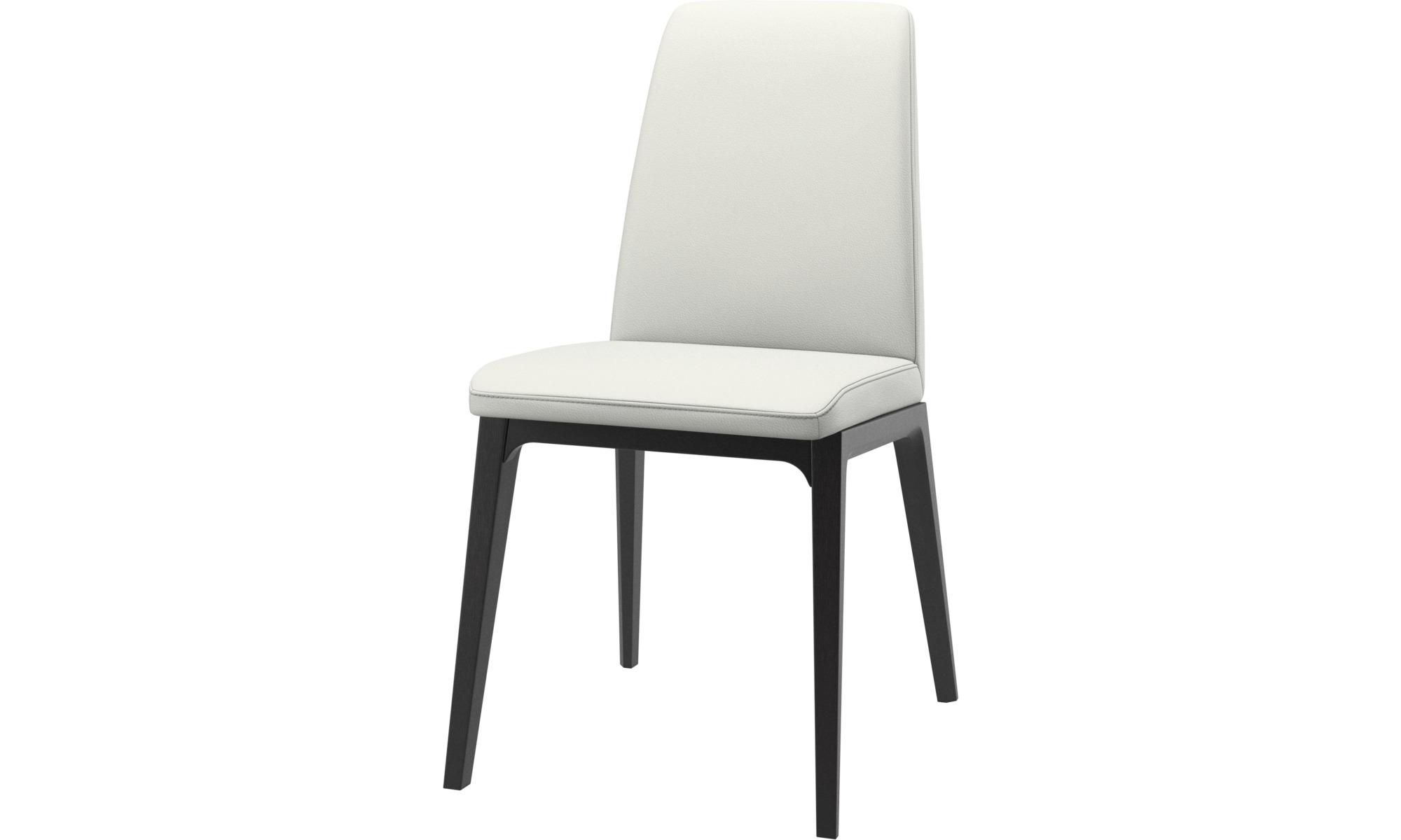 Dining chairs - Lausanne chair - White - Leather