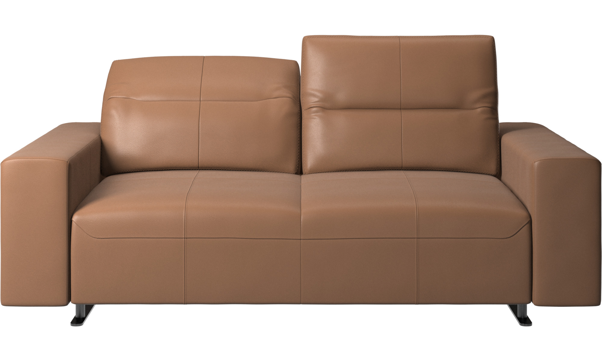 NEW IN PACKAGE Sure fit Stretch Leather 2-Piece Loveseat Slipcover Brown