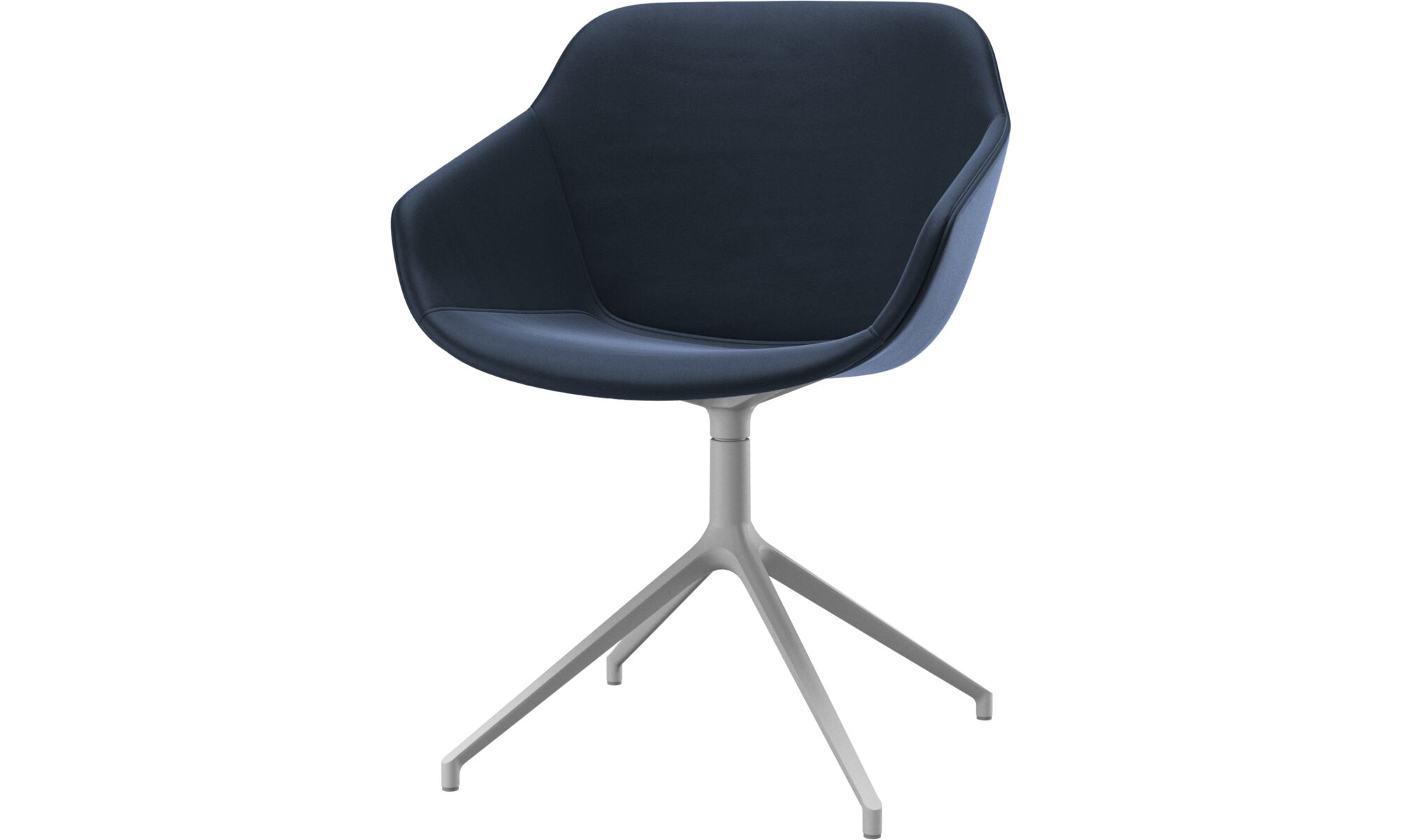 Dining chairs - Vienna chair with swivel function - Blue - Leather