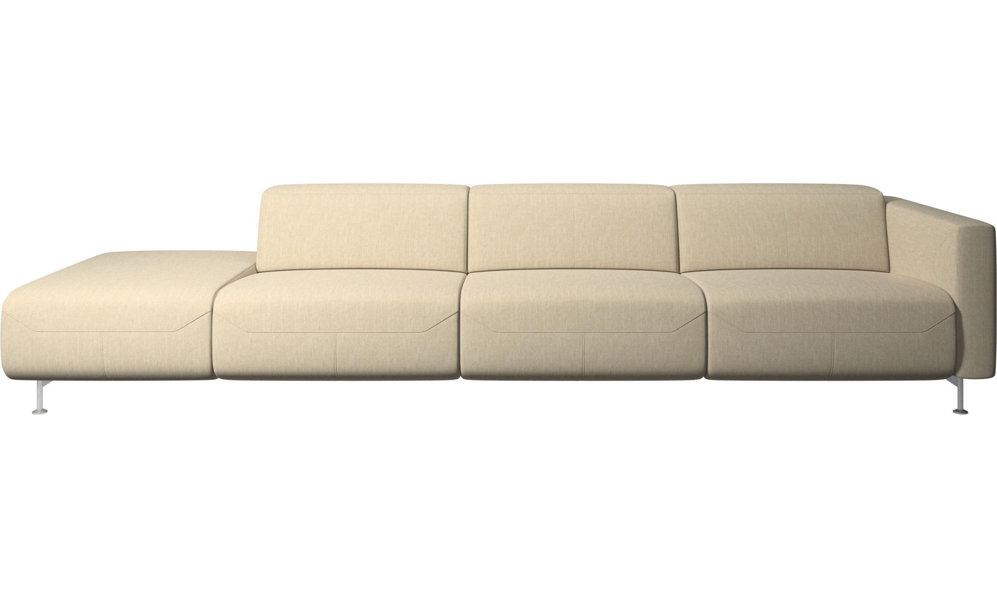 Justerbare sofaer - Parma sofa med hvilefunktion og open end - Brun - Stof