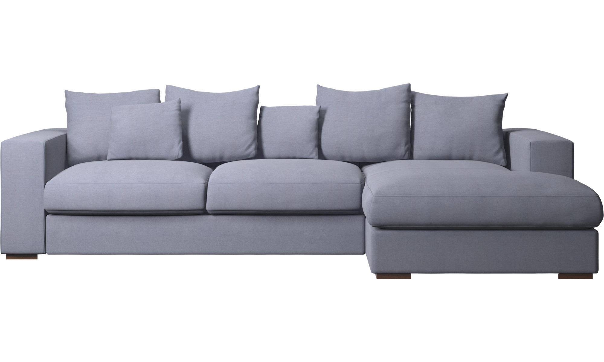 Sofaer med chaiselong - Cenova sofa med hvilemodul - Blå - Stof