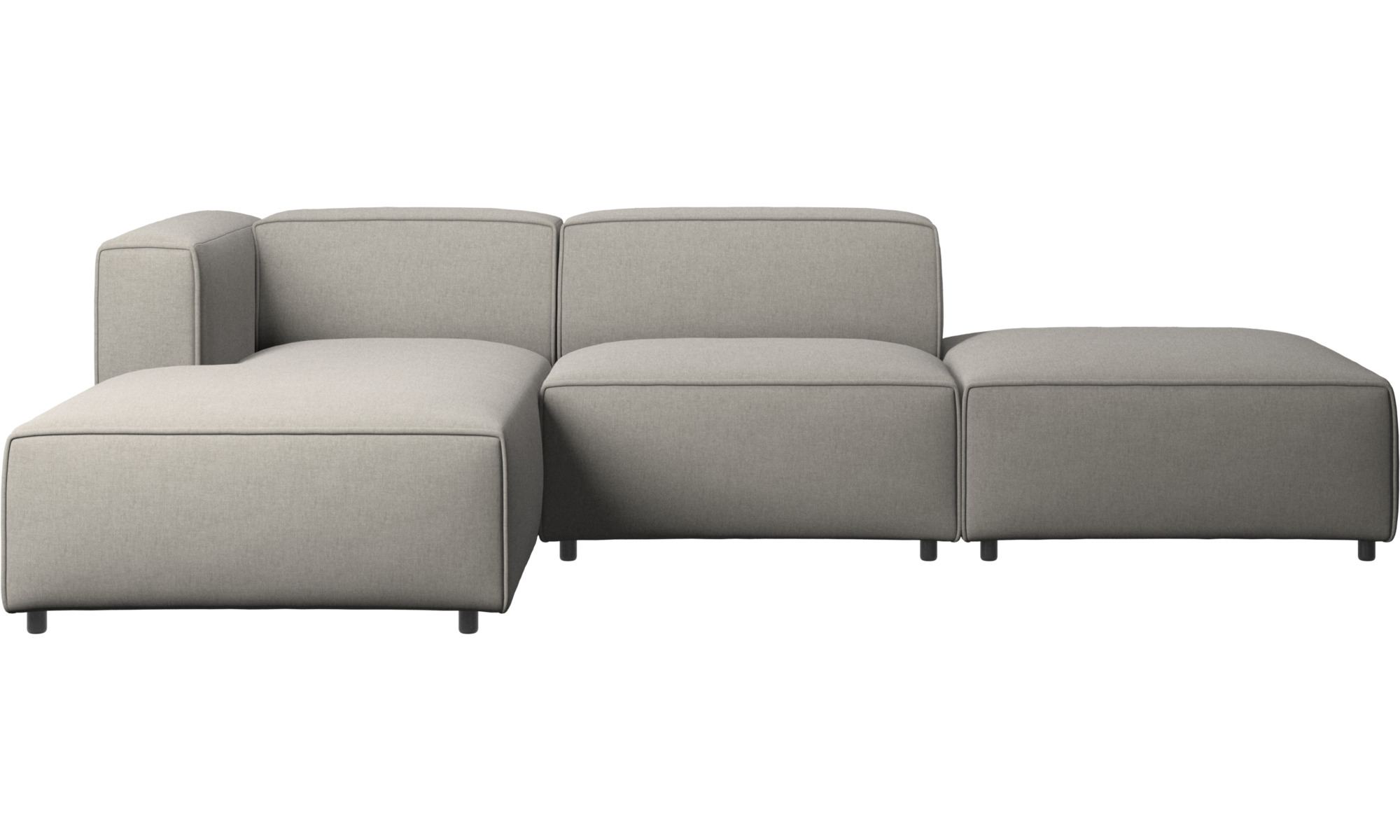 Modular sofas - Carmo sofa with lounging and resting unit - Grey - Fabric