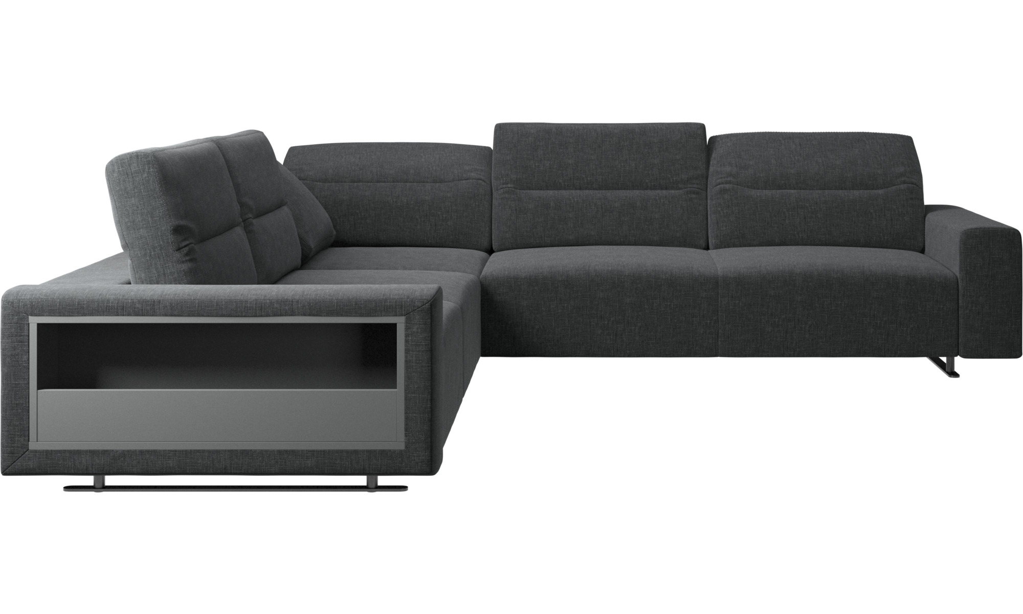 Corner sofas hampton corner sofa with adjustable back and storage on left s - Canape d angle dehoussable ...
