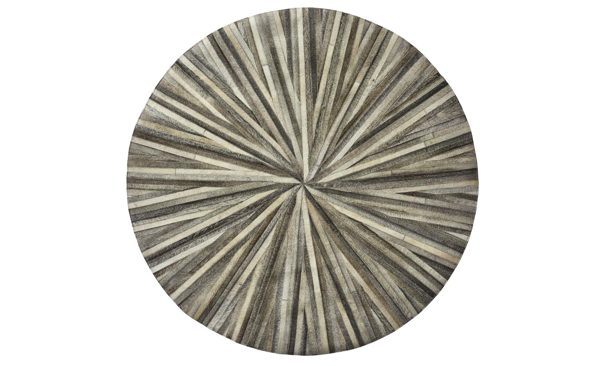Rugs - Dimas rug - round - Grey - Leather