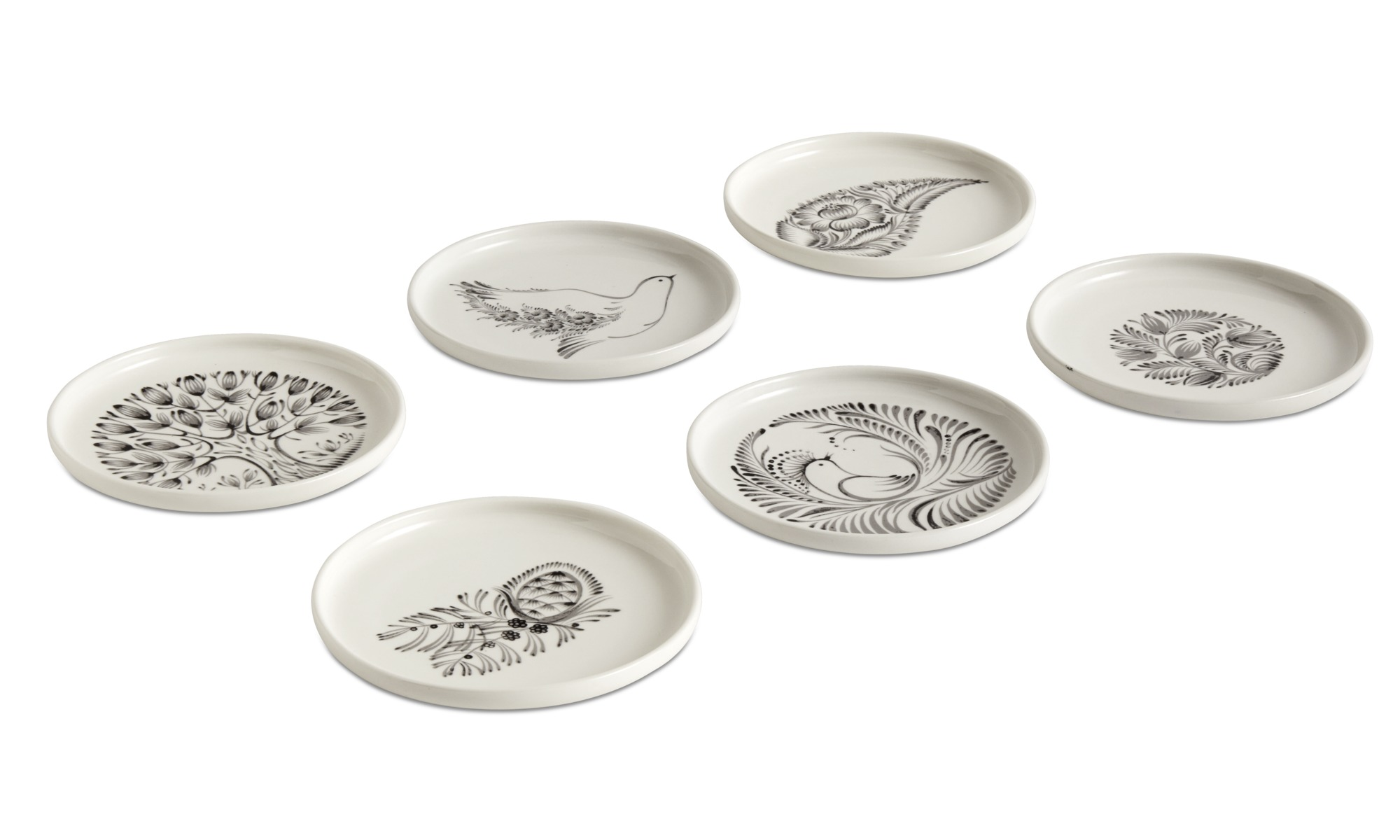 Dinnerware - nora breakfast plates with floral pattern - White - Ceramic ...  sc 1 st  BoConcept : pattern dinnerware - pezcame.com