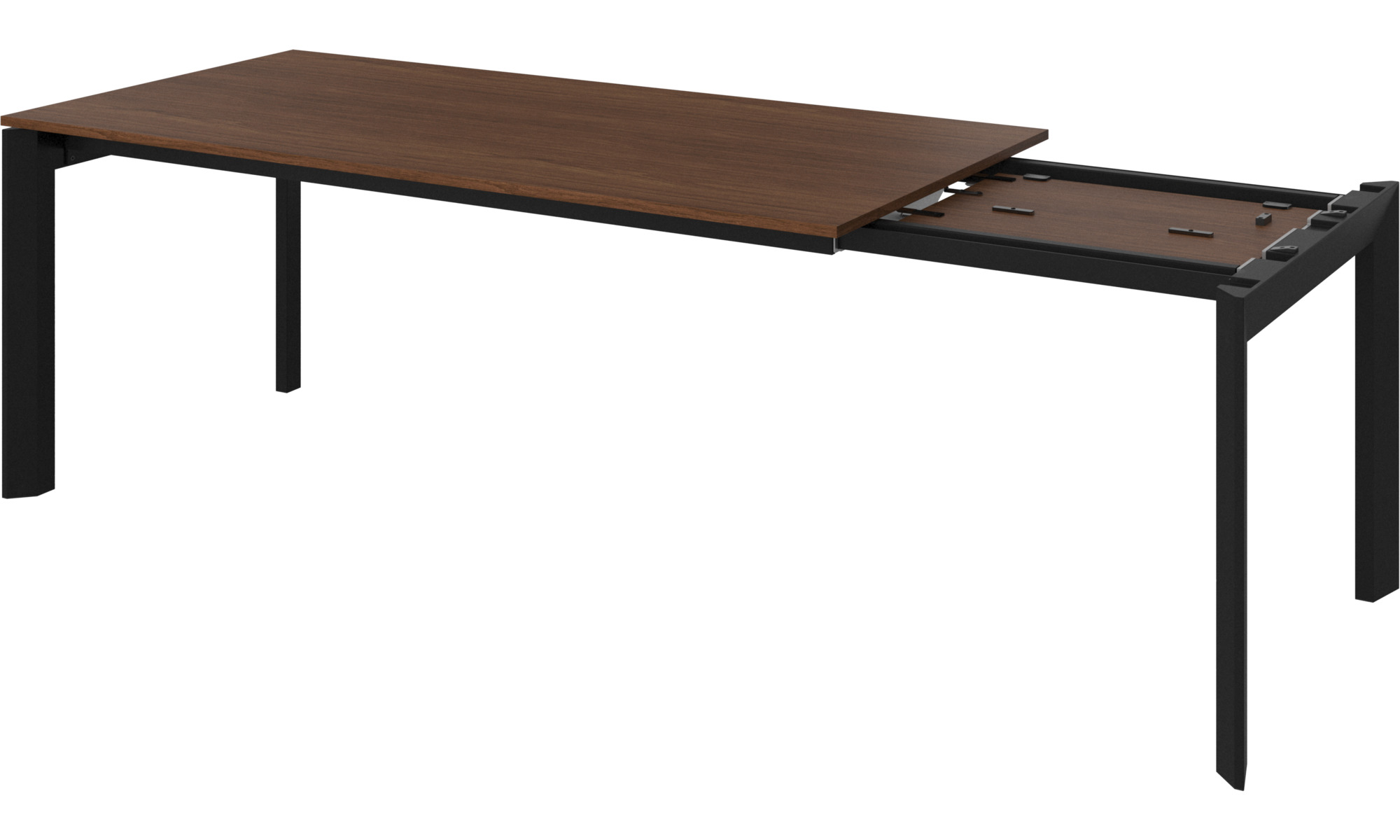 eetkamertafel lyon tafel met extra tafelblad boconcept. Black Bedroom Furniture Sets. Home Design Ideas