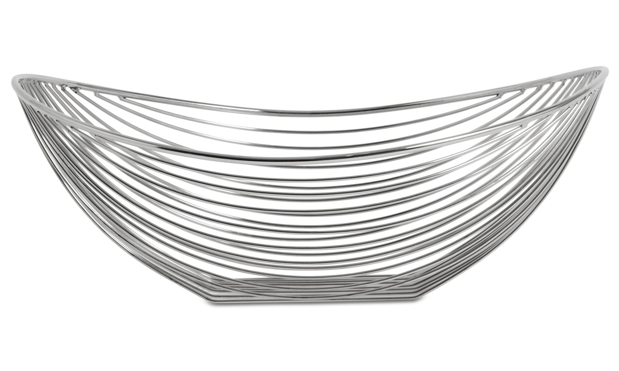 Decoratie - Line organic dish - Grijs - Metaal
