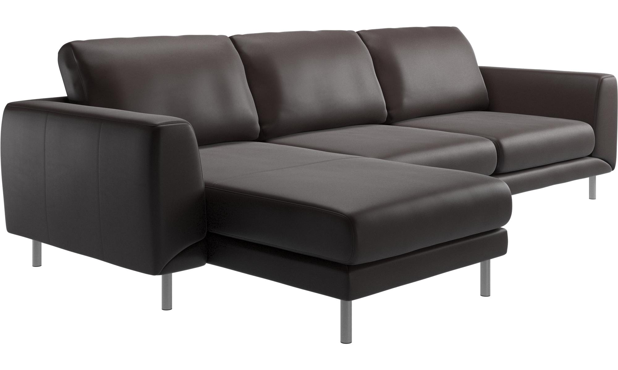 Chaise Lounge Sofas Fargo Sofa With Resting Unit Brown Leather