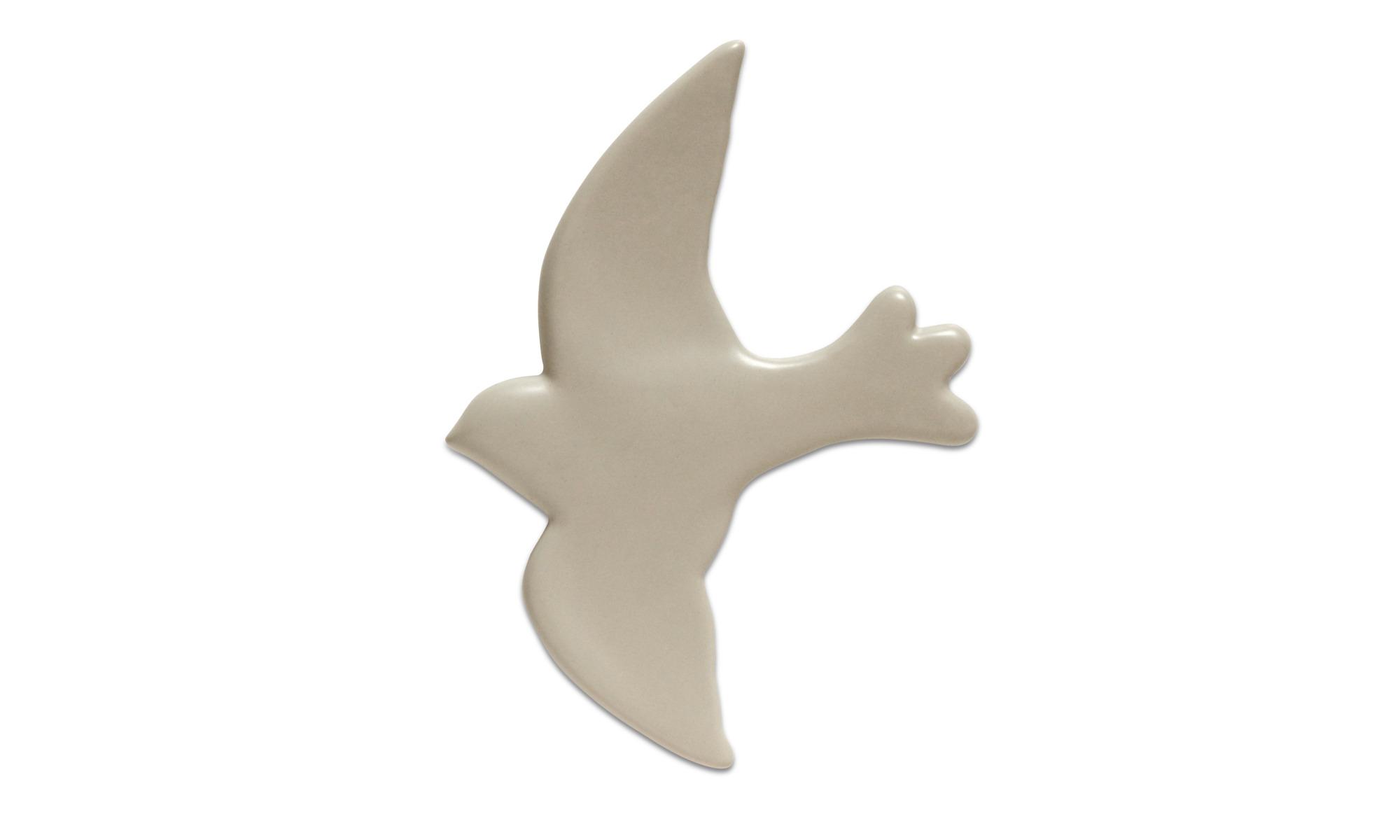 Dekoracja - Dekoracja ścienna Bird - Szary - Ceramika