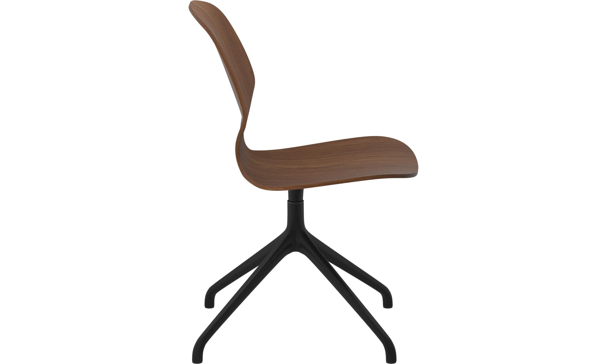 dining chairs florence chair with swivel function brown walnut