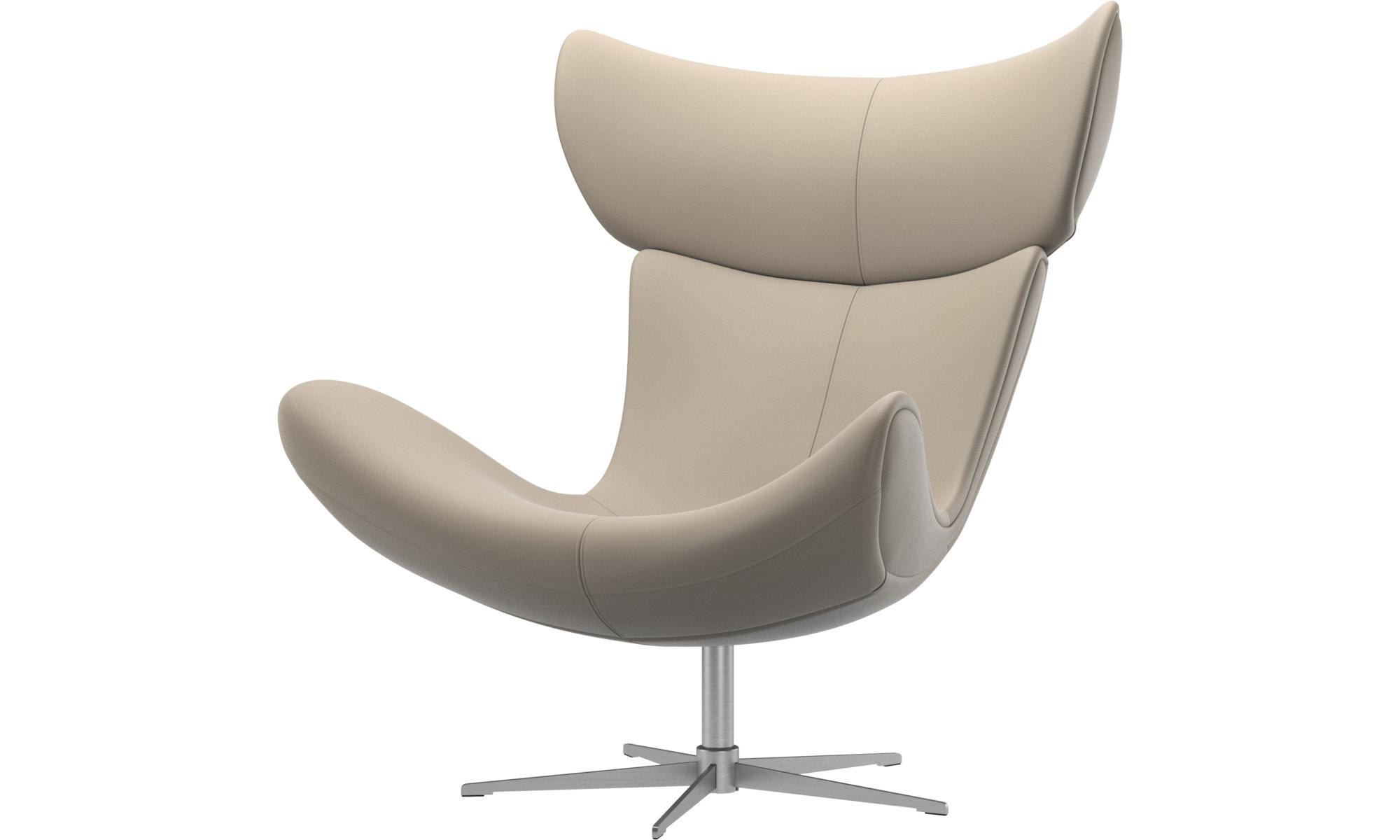 Sessel - Imola Sessel mit Drehfunktion - Beige - Leder