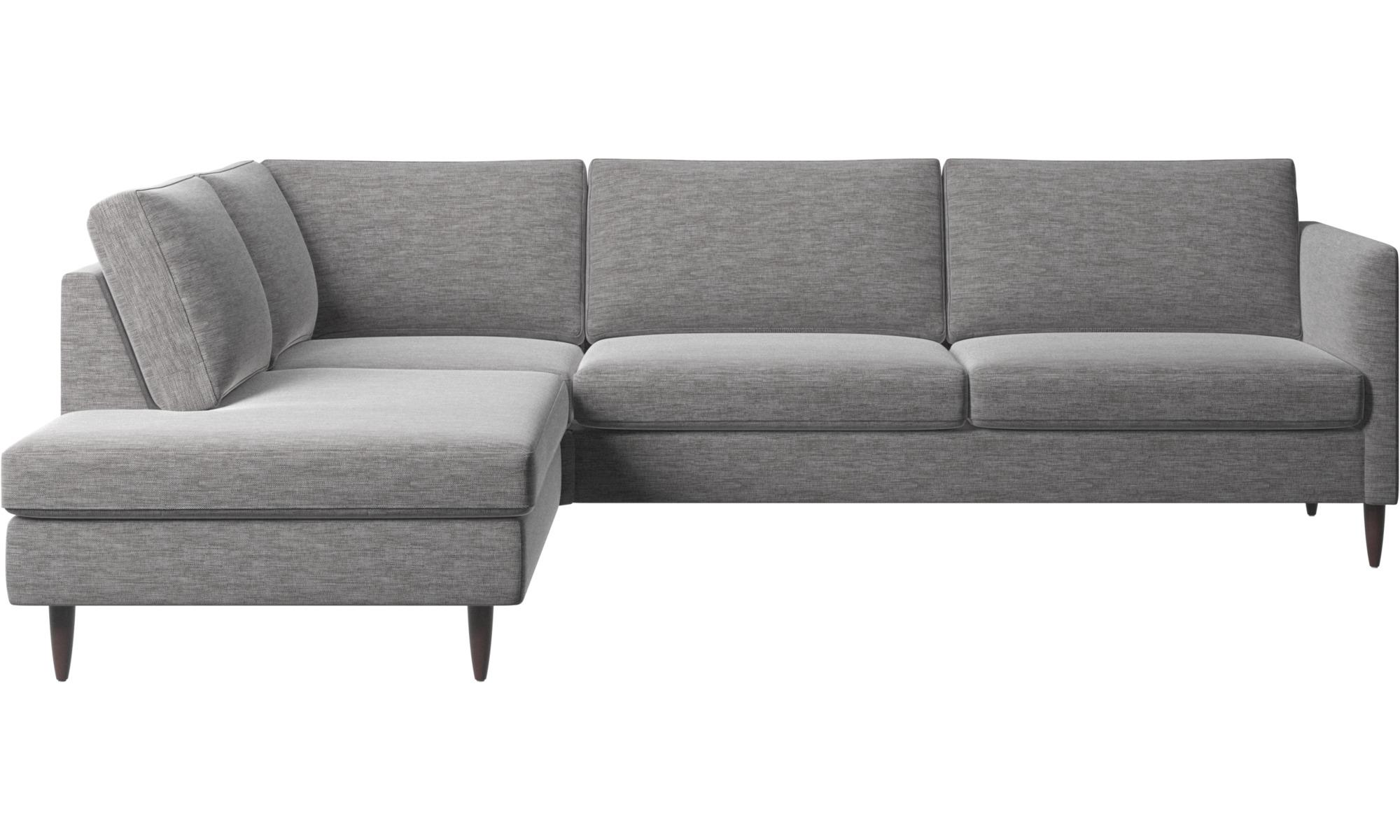 Hjørnesofaer - Indivi hjørnesofa med loungemodul - Grå - Stof