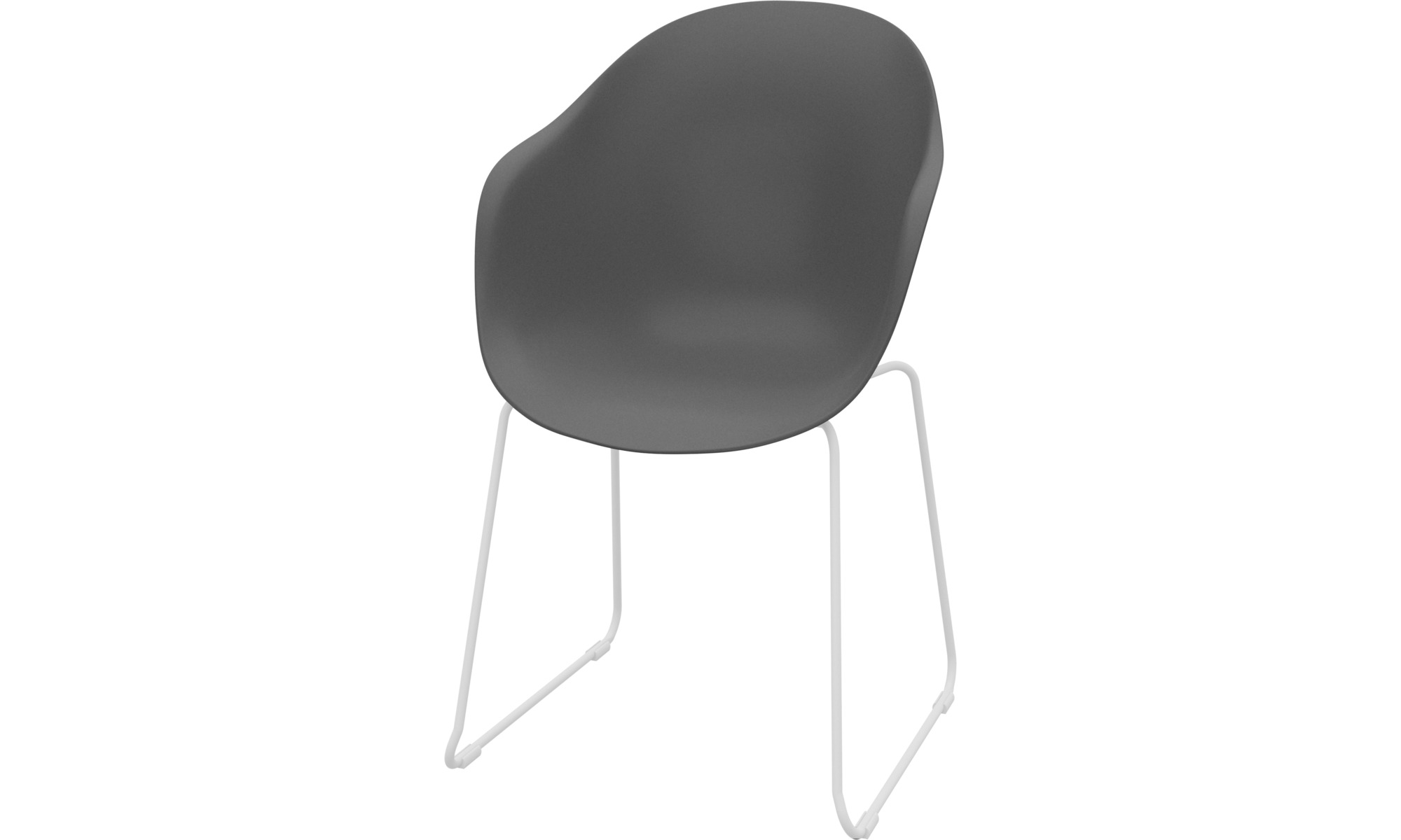 Dining chairs - Adelaide chair (for in- and outdoor use) - Grey - Plastic